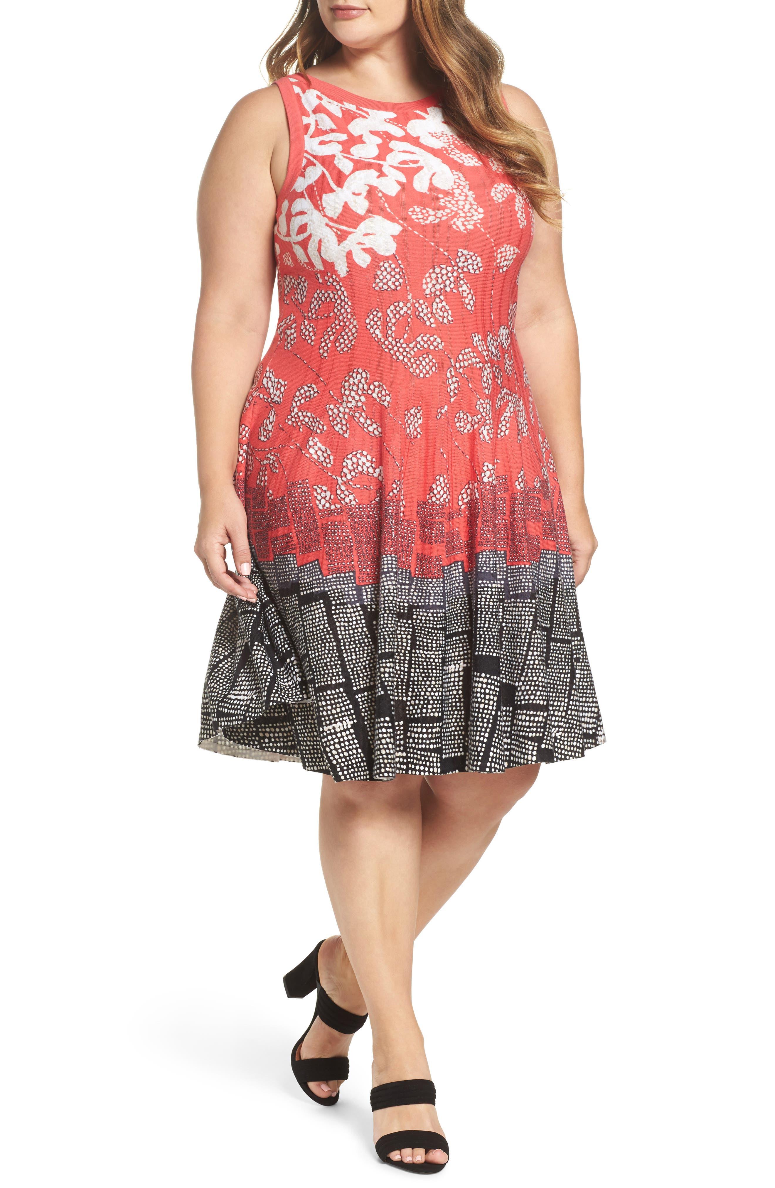 NIC+ZOE Terrace Twirl Fit & Flare Dress (Plus Size)