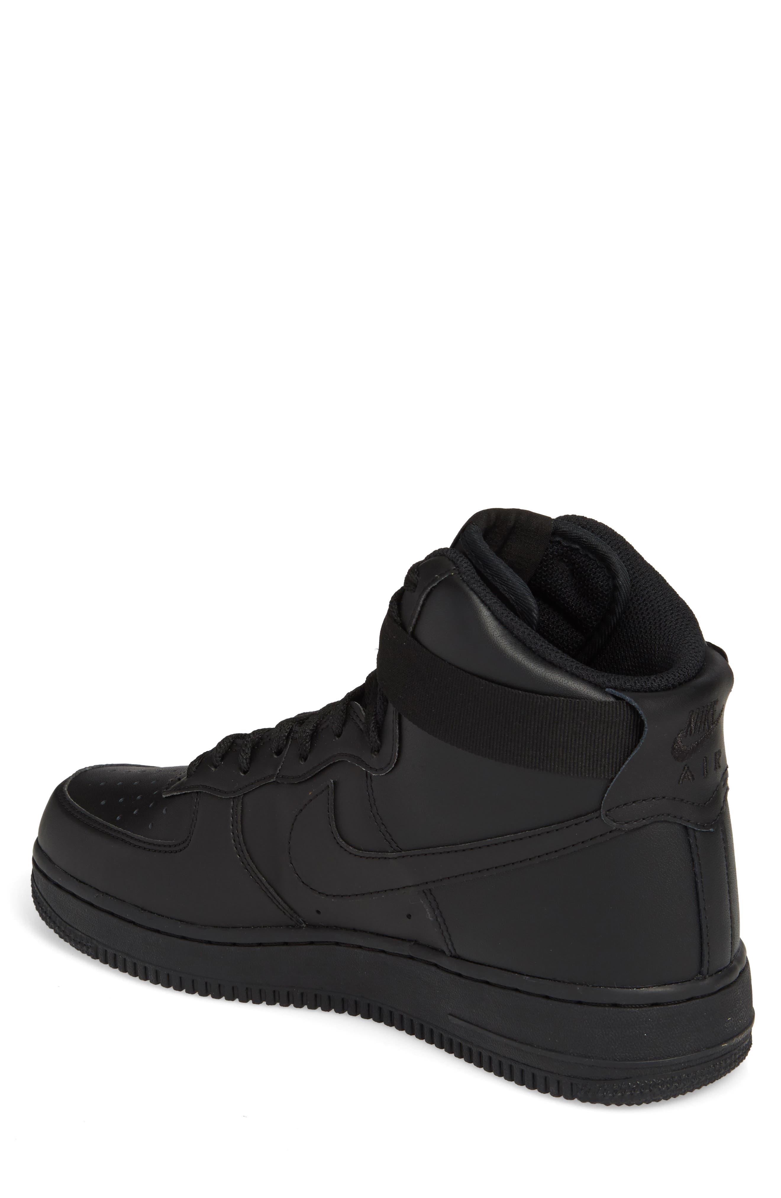 Air Force 1 High '07 Sneaker,                             Alternate thumbnail 2, color,                             Black/ Black