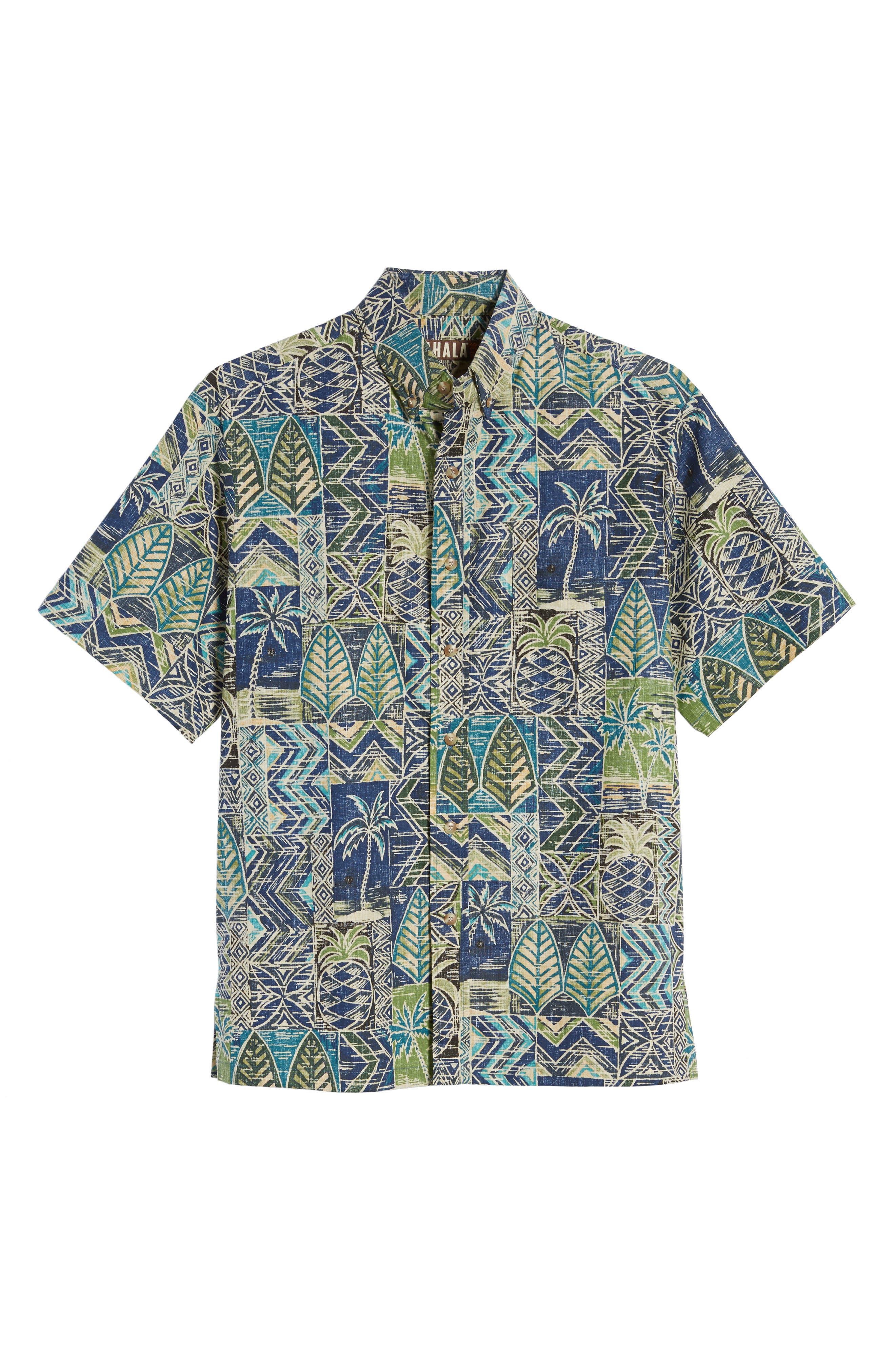 Makani Classic Fit Non-Iron Sport Shirt,                             Alternate thumbnail 6, color,                             Navy