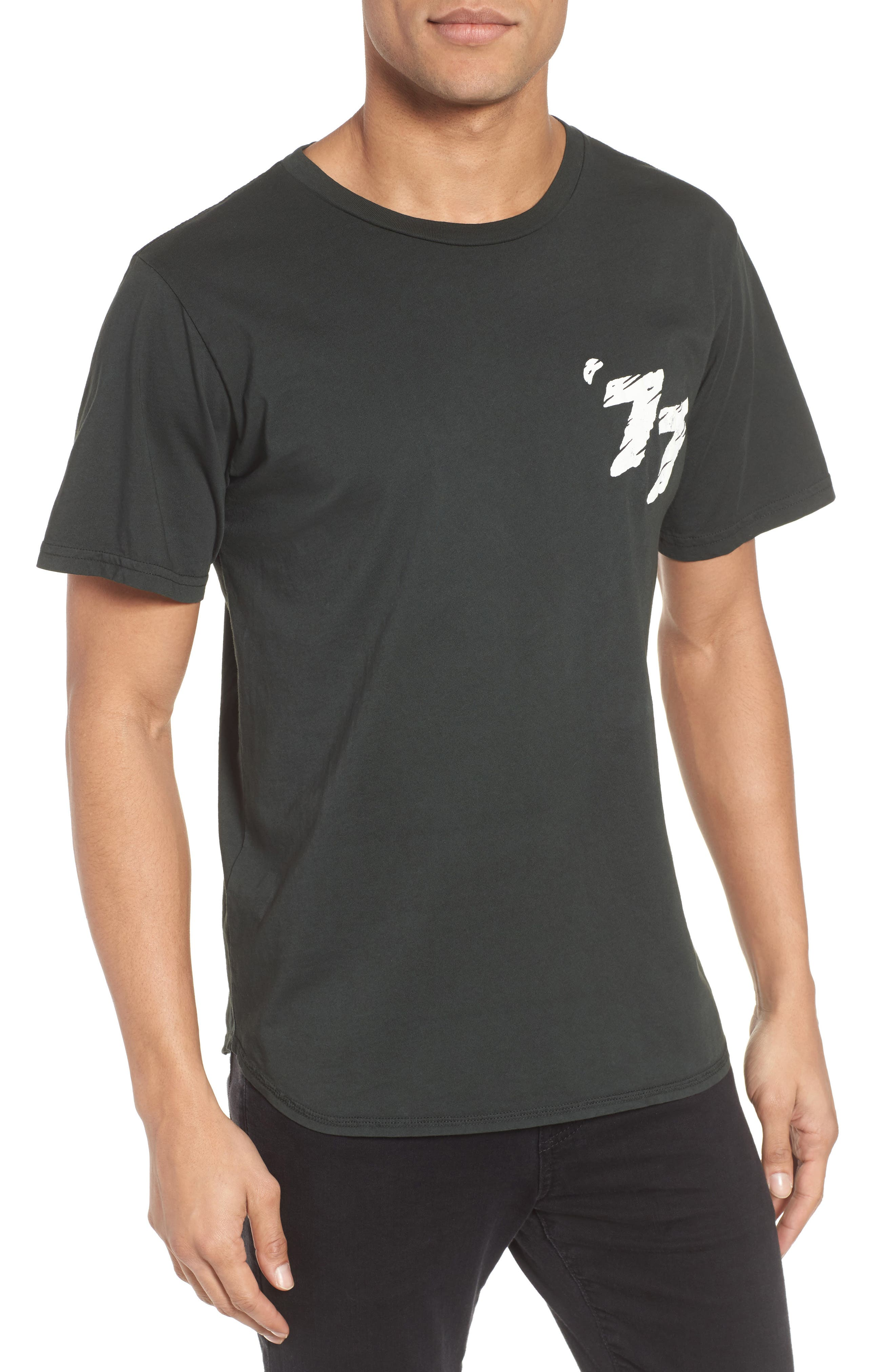 White Riot Graphic T-Shirt,                         Main,                         color, Dusty Black