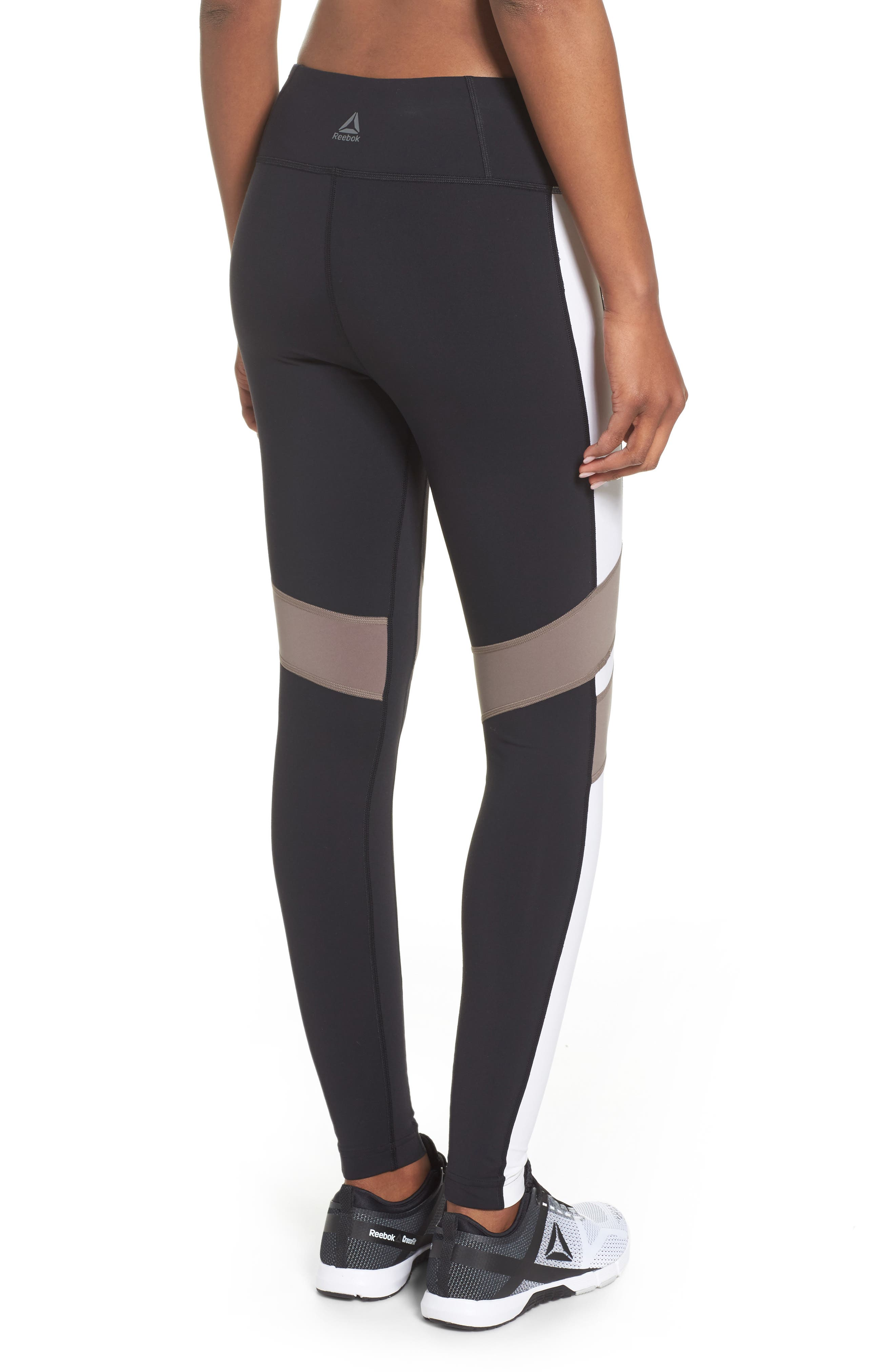 Reebox Lux Tights,                             Alternate thumbnail 2, color,                             Black