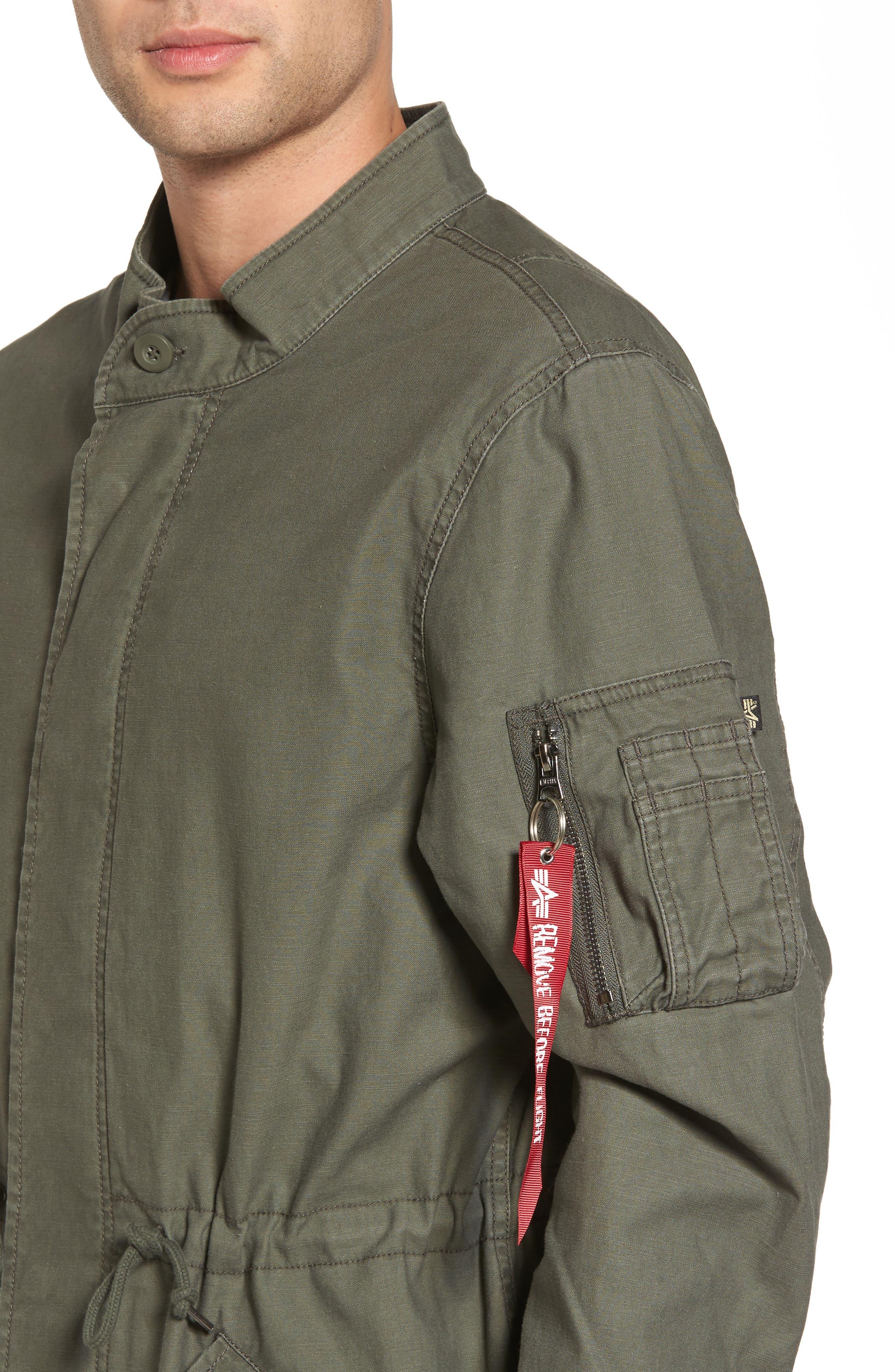 Recruit Fishtail Jacket,                             Alternate thumbnail 4, color,                             M-65 Olive