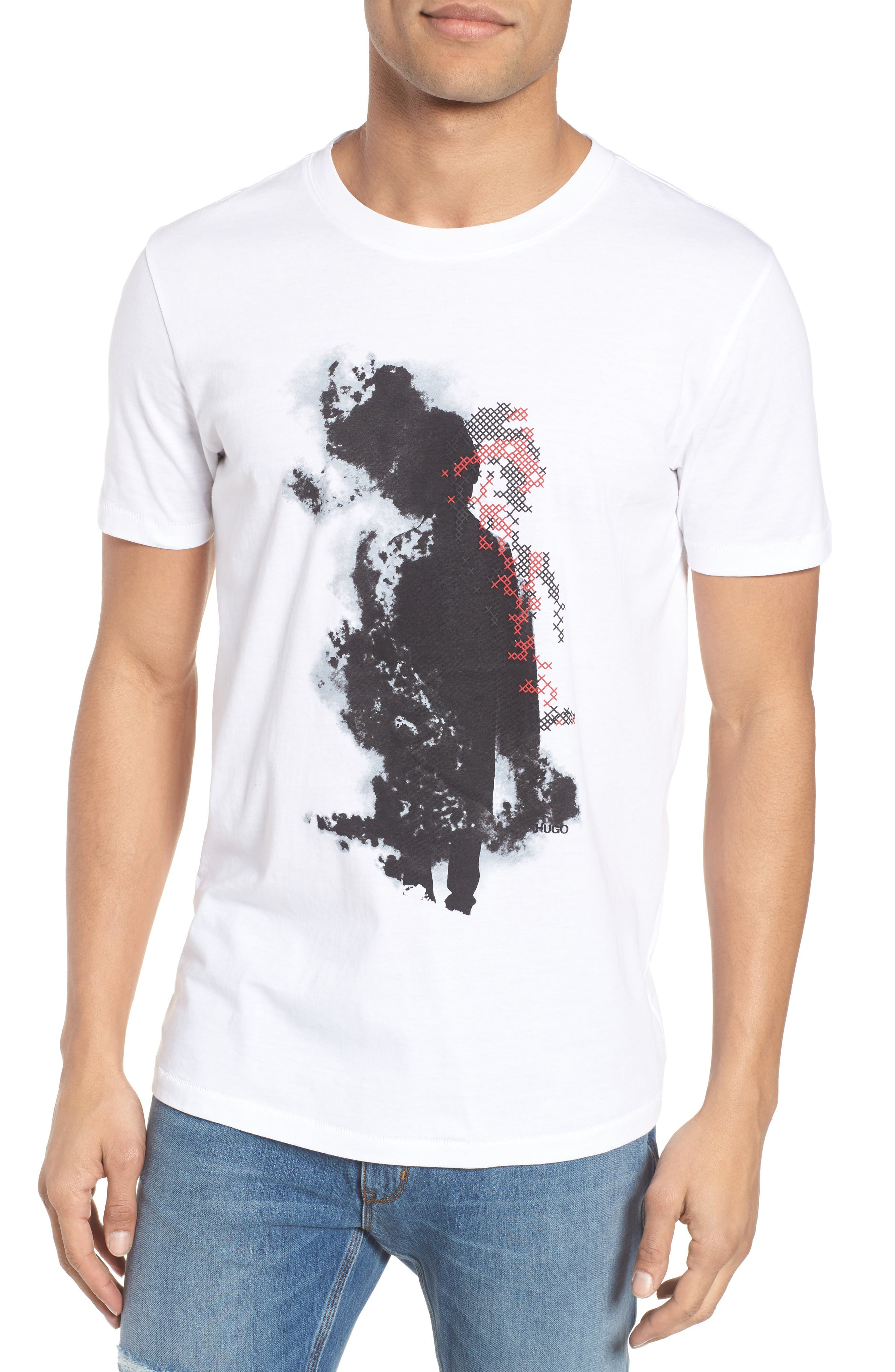 Duda Graphic T-Shirt,                         Main,                         color, White