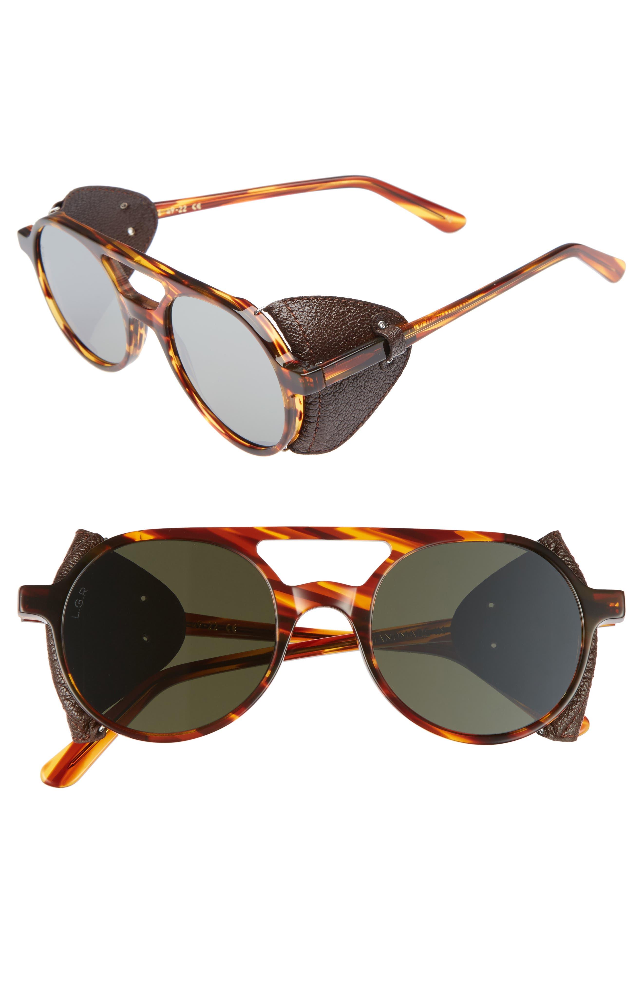 Reunion II 49mm Sunglasses,                         Main,                         color, Havana Fiammato/ Brown