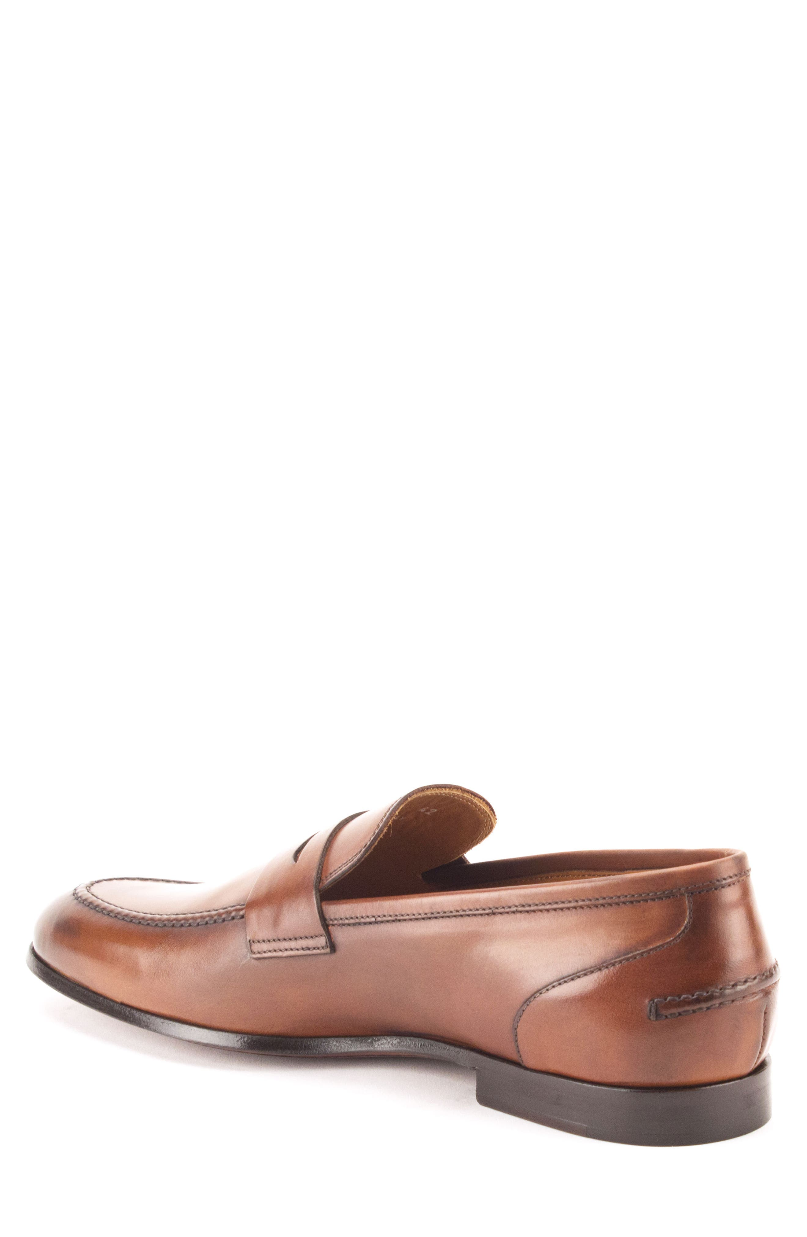 Coleman Apron Toe Penny Loafer,                             Alternate thumbnail 2, color,                             Tan Leather