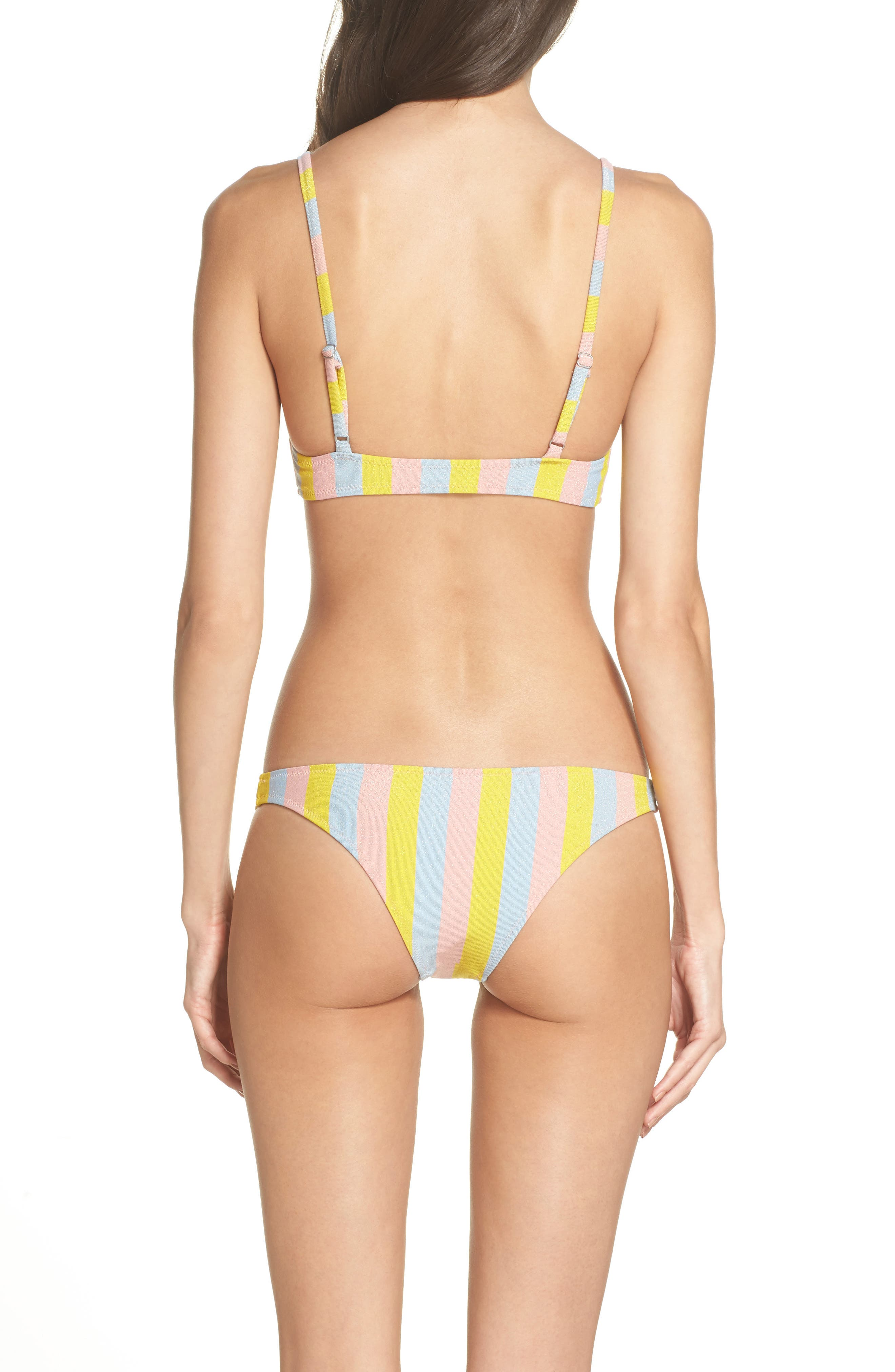 The Rachel Bikini Top,                             Alternate thumbnail 6, color,                             Yellow/ Blue/ Pink