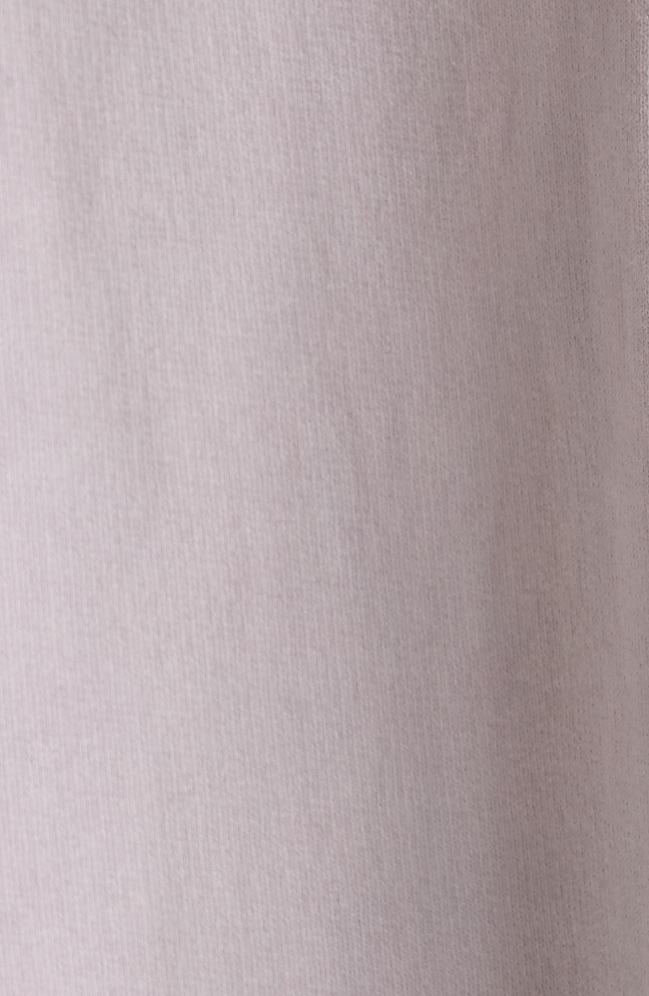 French Terry Pullover,                             Alternate thumbnail 5, color,                             Lilac Dust