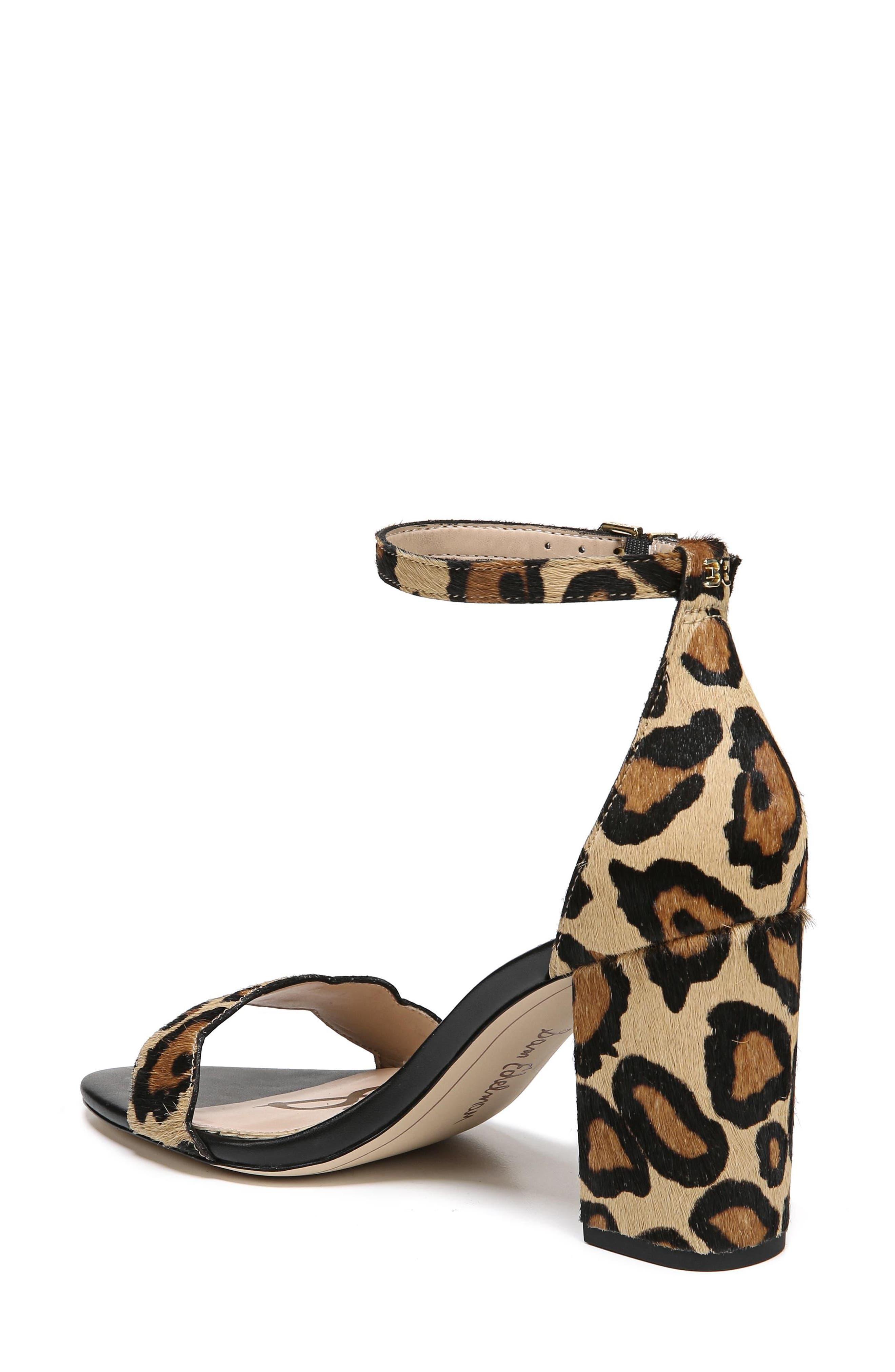 Odila Genuine Calf Hair Sandal,                             Alternate thumbnail 2, color,                             New Nude Leopard Calf Hair