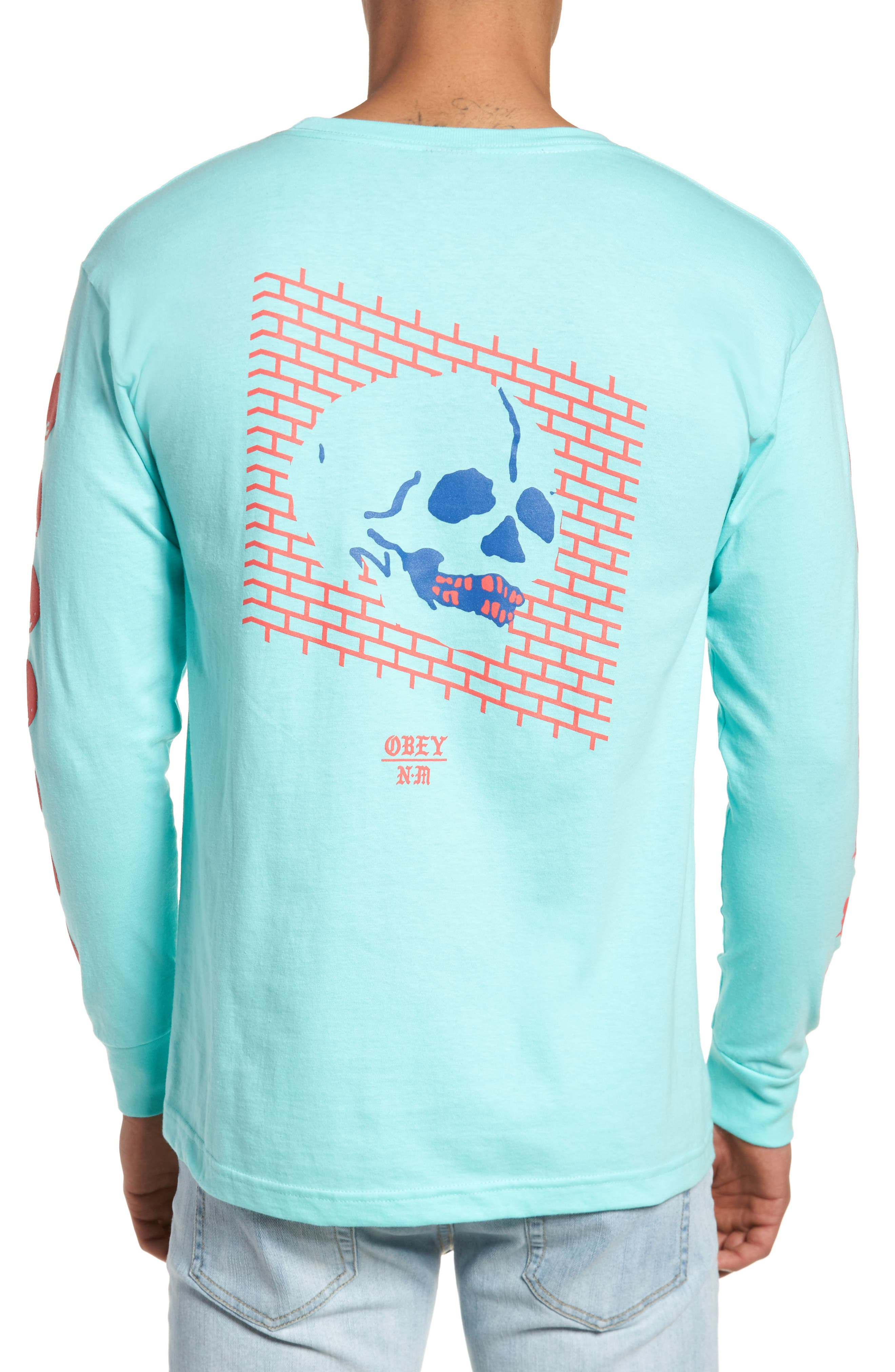 Wall of Death Never Made Artis T-Shirt,                             Alternate thumbnail 2, color,                             Celadon