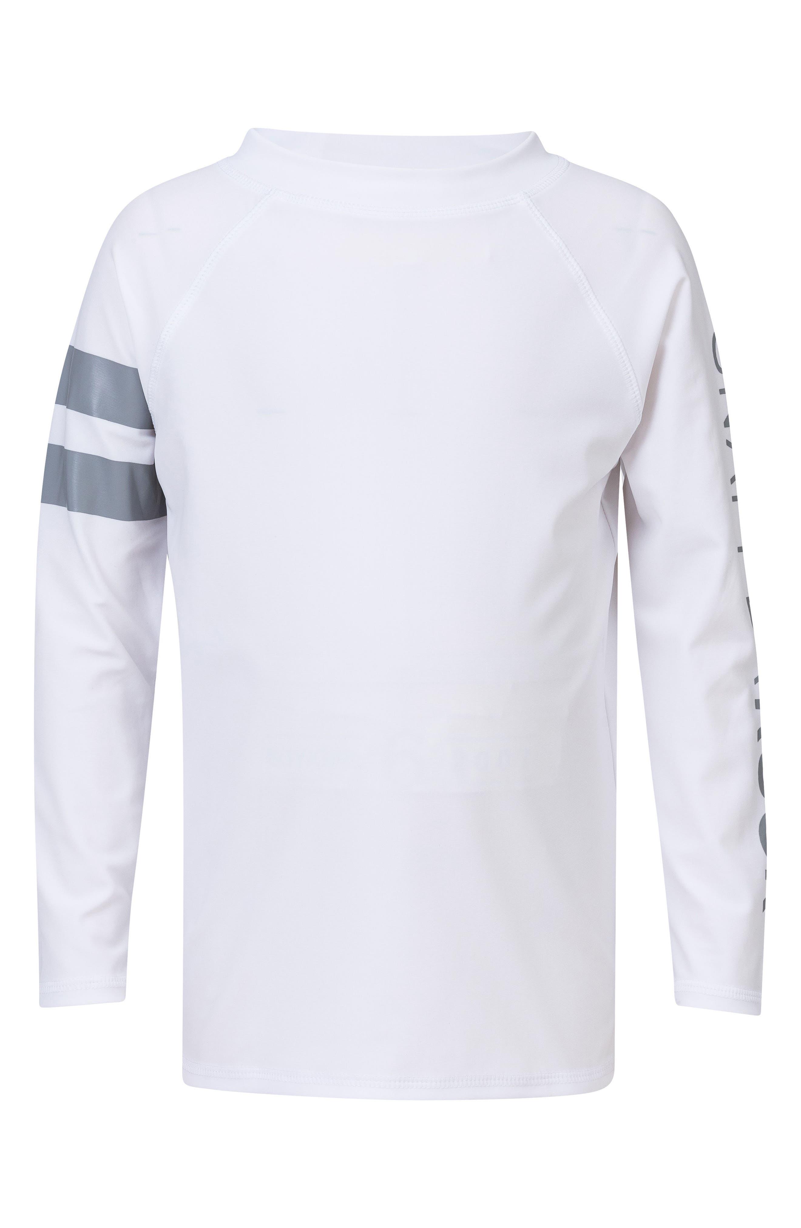 Raglan Long Sleeve Rashguard,                             Main thumbnail 1, color,                             White/ Grey
