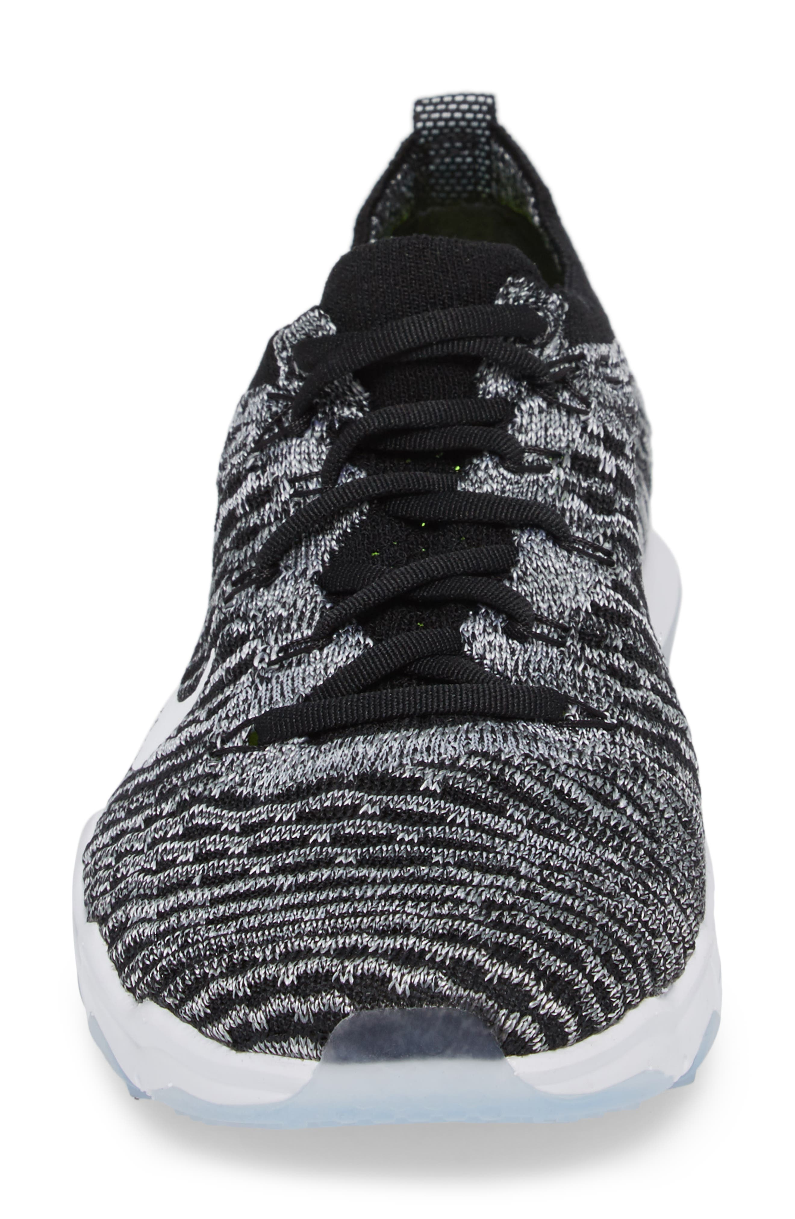 Air Zoom Fearless Flyknit Lux Training Shoe,                             Alternate thumbnail 4, color,                             Black/ White