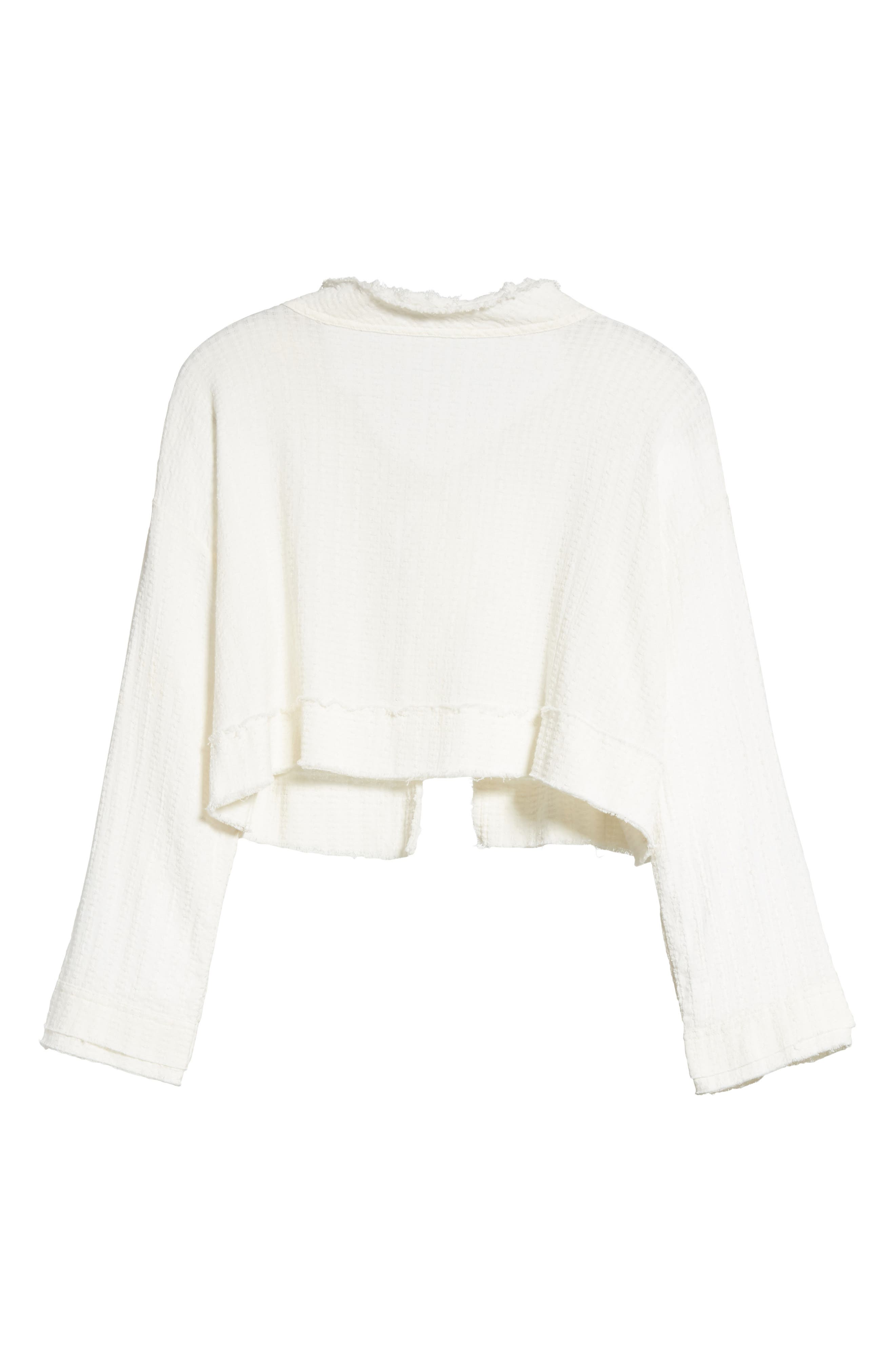 Waking in Hueco Crop Sweater,                             Alternate thumbnail 6, color,                             Ivory