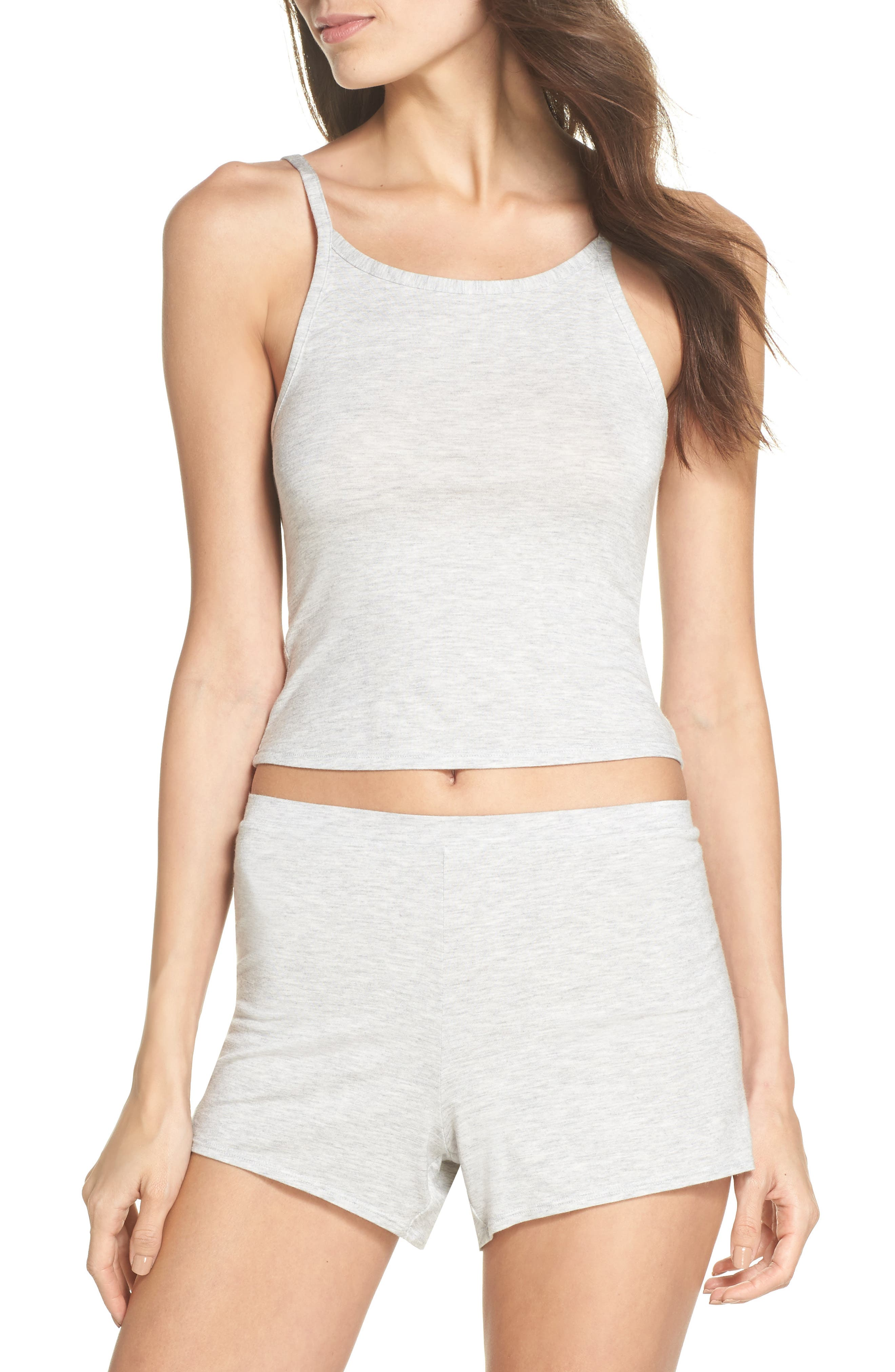 Undressed Pajama Shorts,                             Alternate thumbnail 5, color,                             Silver