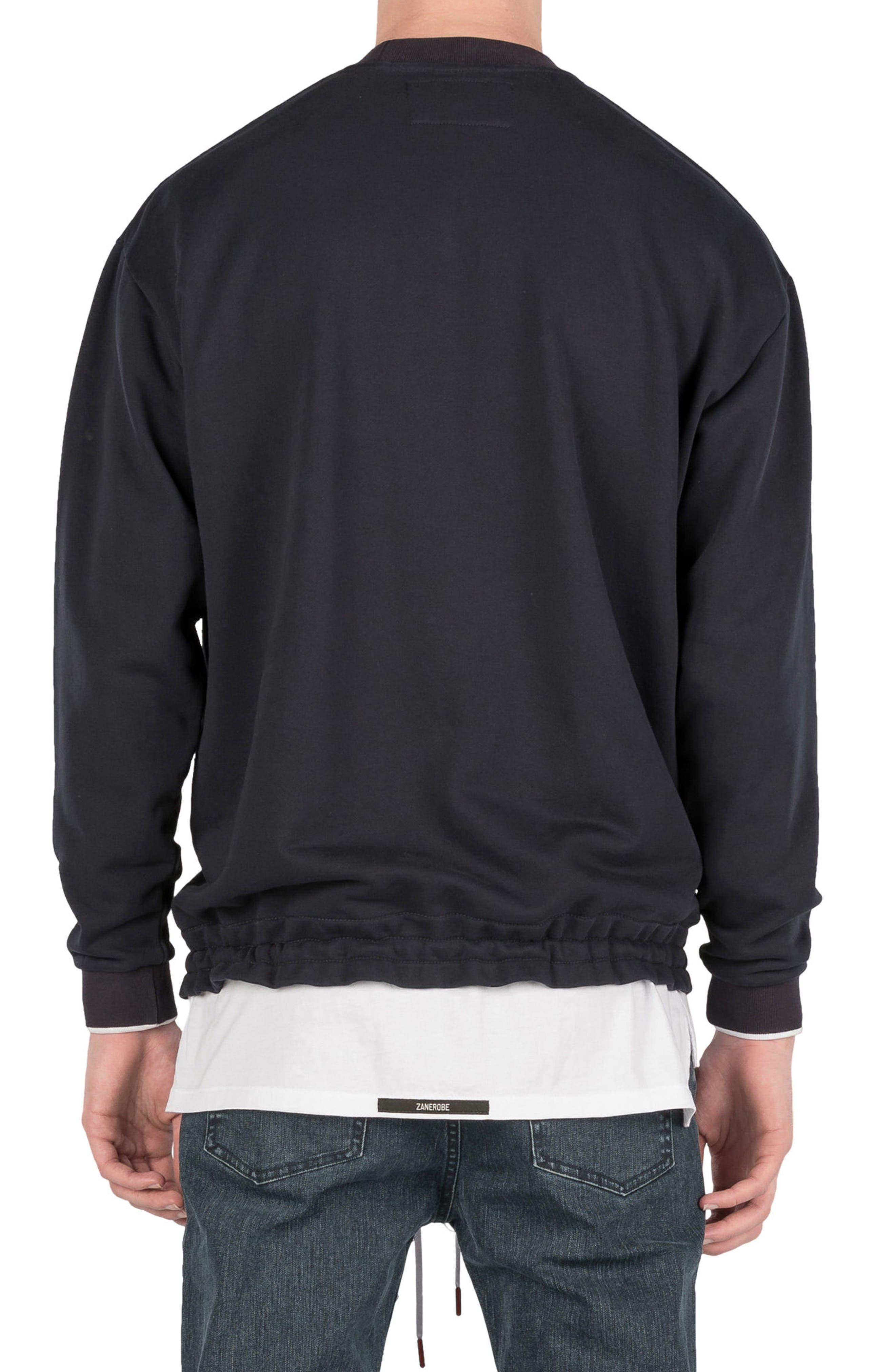 Box Sweatshirt,                             Alternate thumbnail 2, color,                             Navy