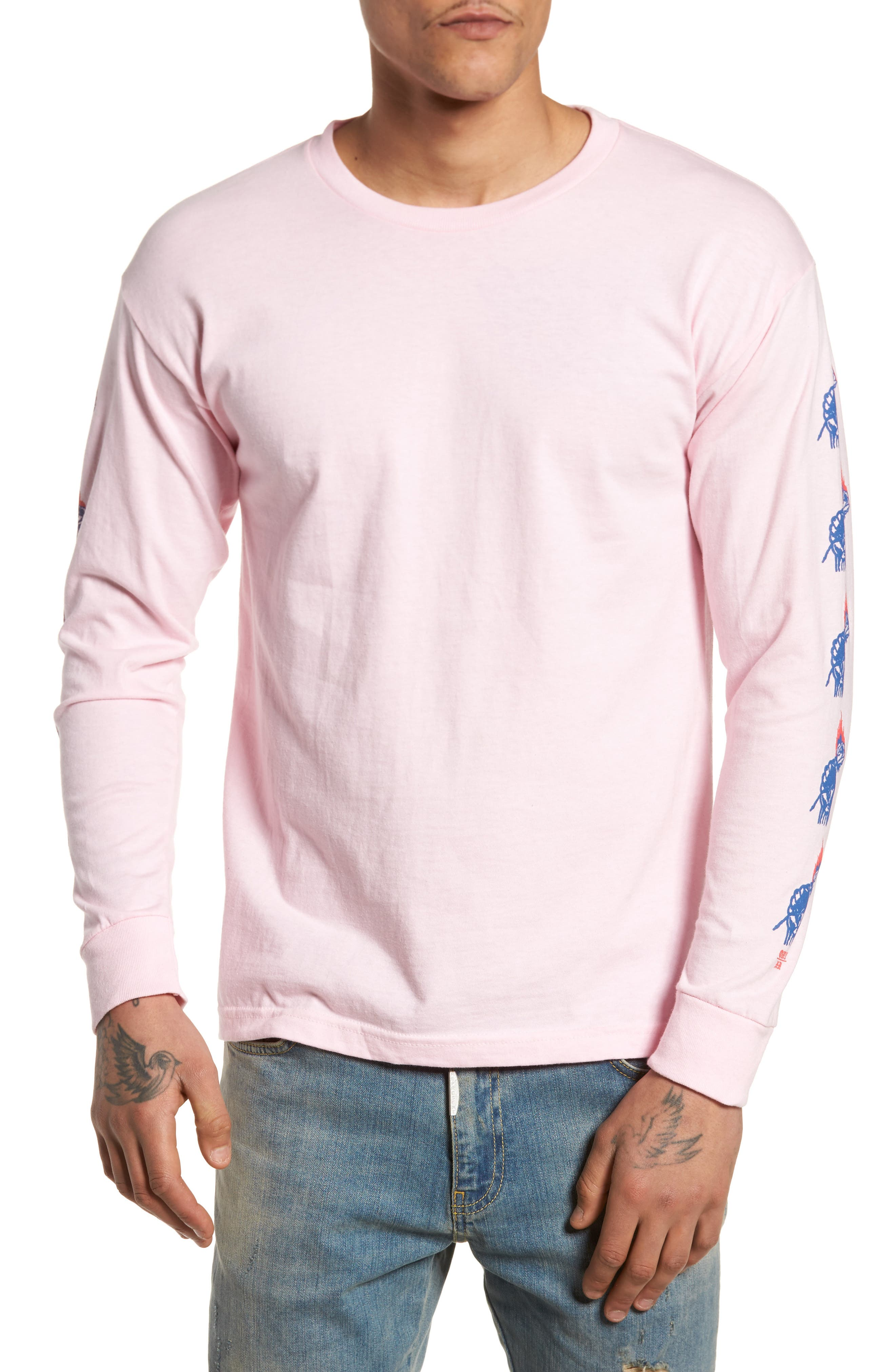 Passion Never Made Artist T-Shirt,                         Main,                         color, Pink