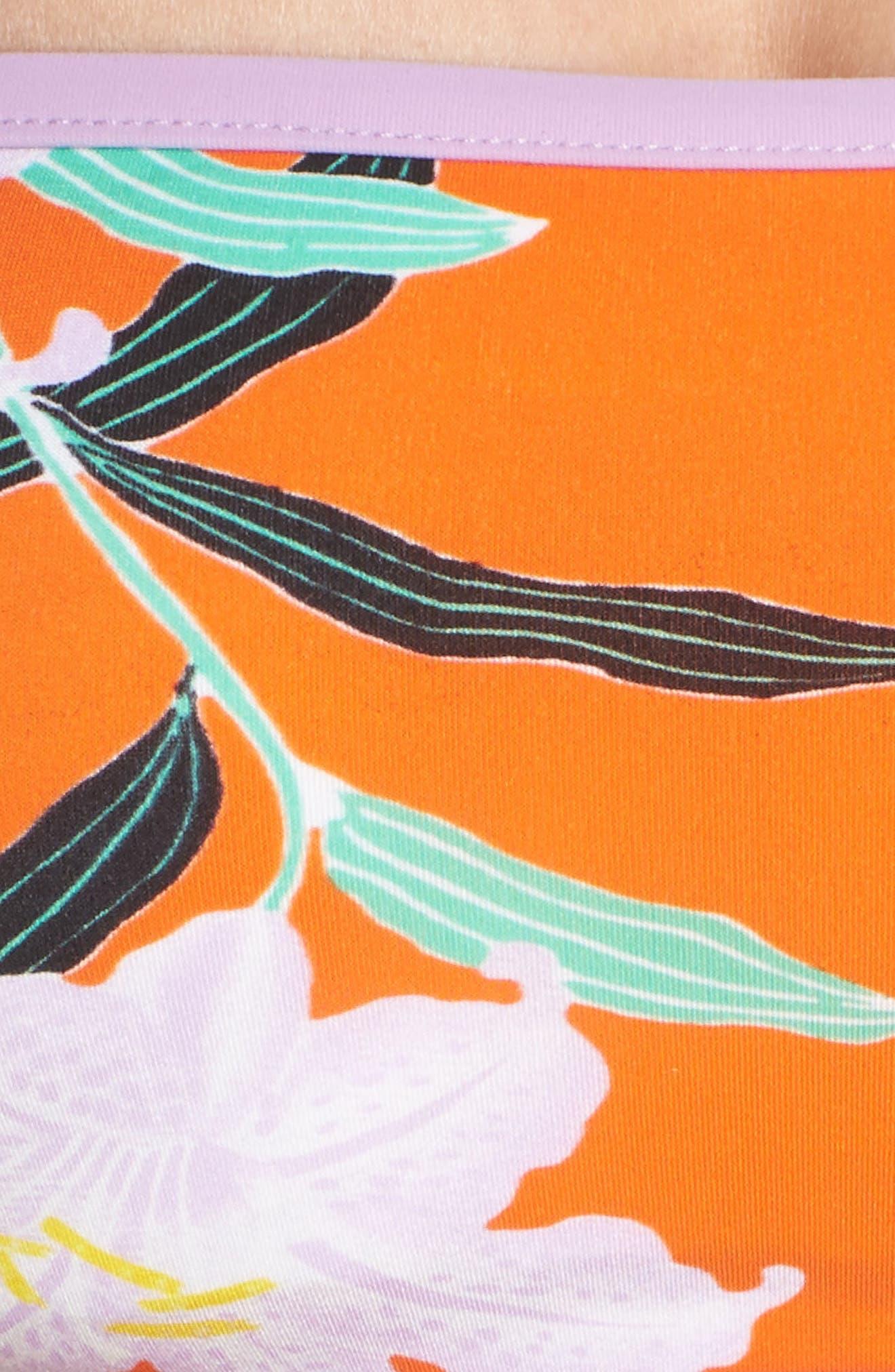 Print Bandeau Bikini Top,                             Alternate thumbnail 8, color,                             Argos Sm All Clem/ Lavender