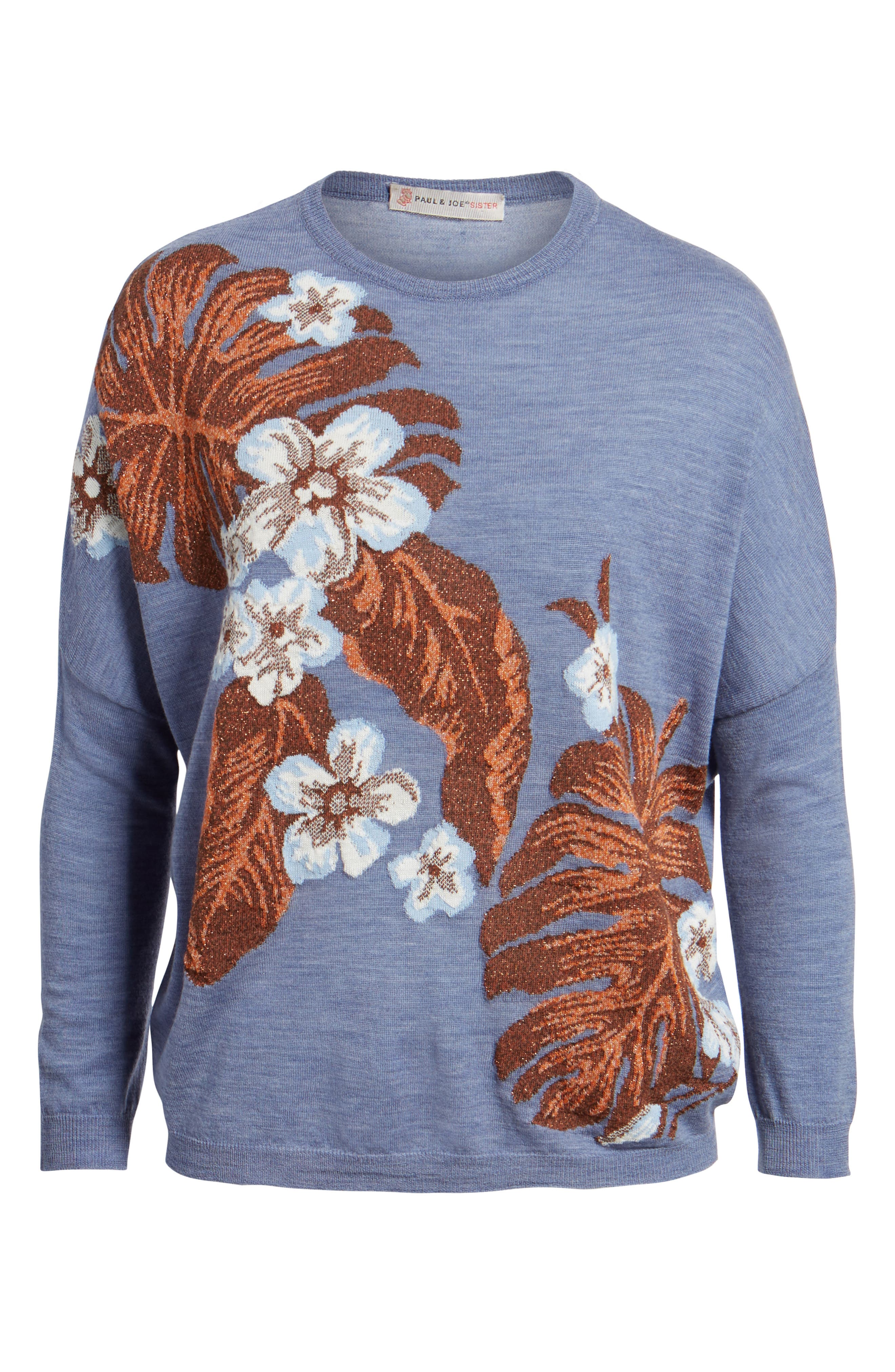Blupalm Sweater,                             Alternate thumbnail 6, color,                             Denim