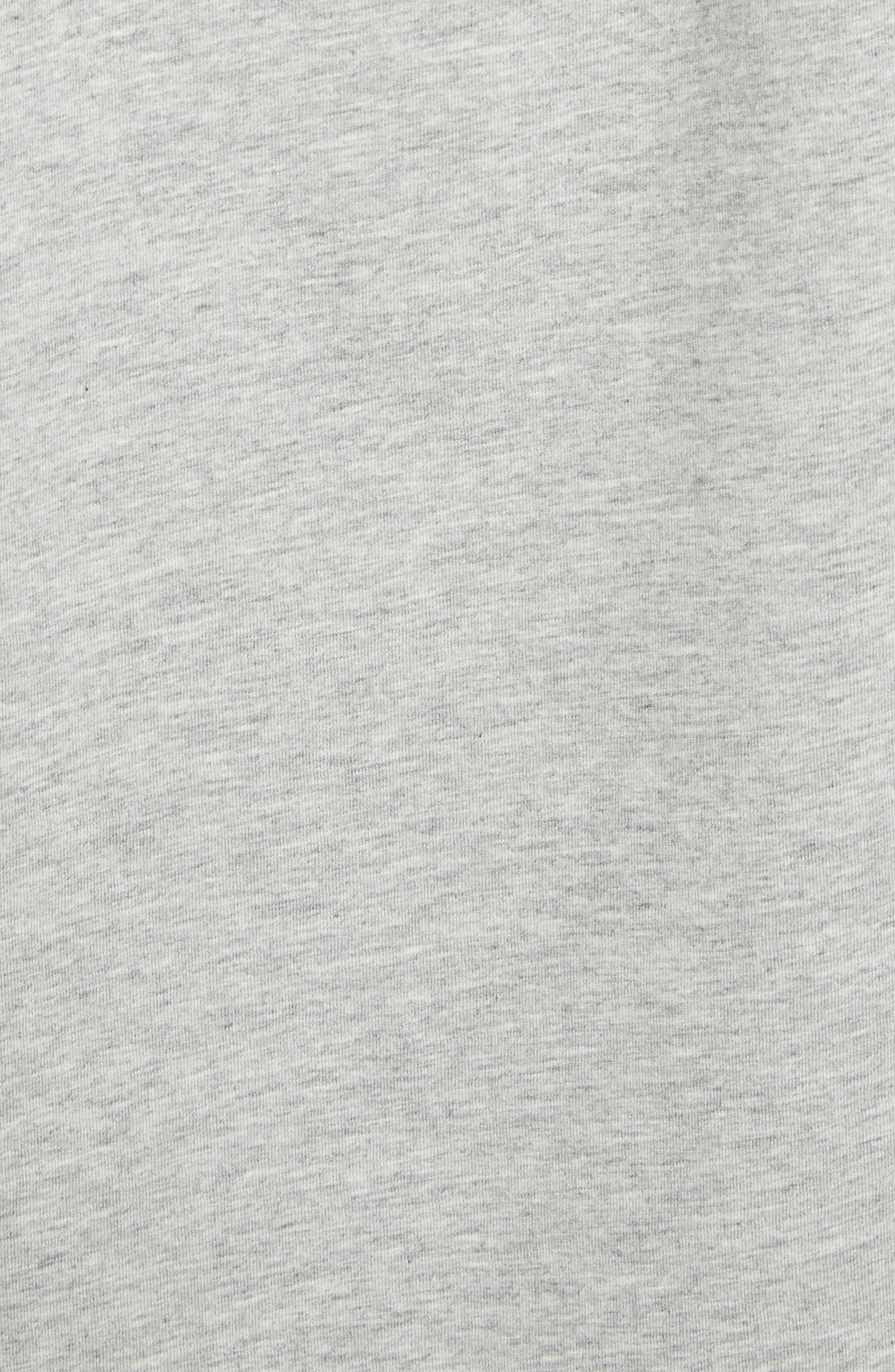 Ruched Shoulder Tee,                             Alternate thumbnail 5, color,                             Heather Grey