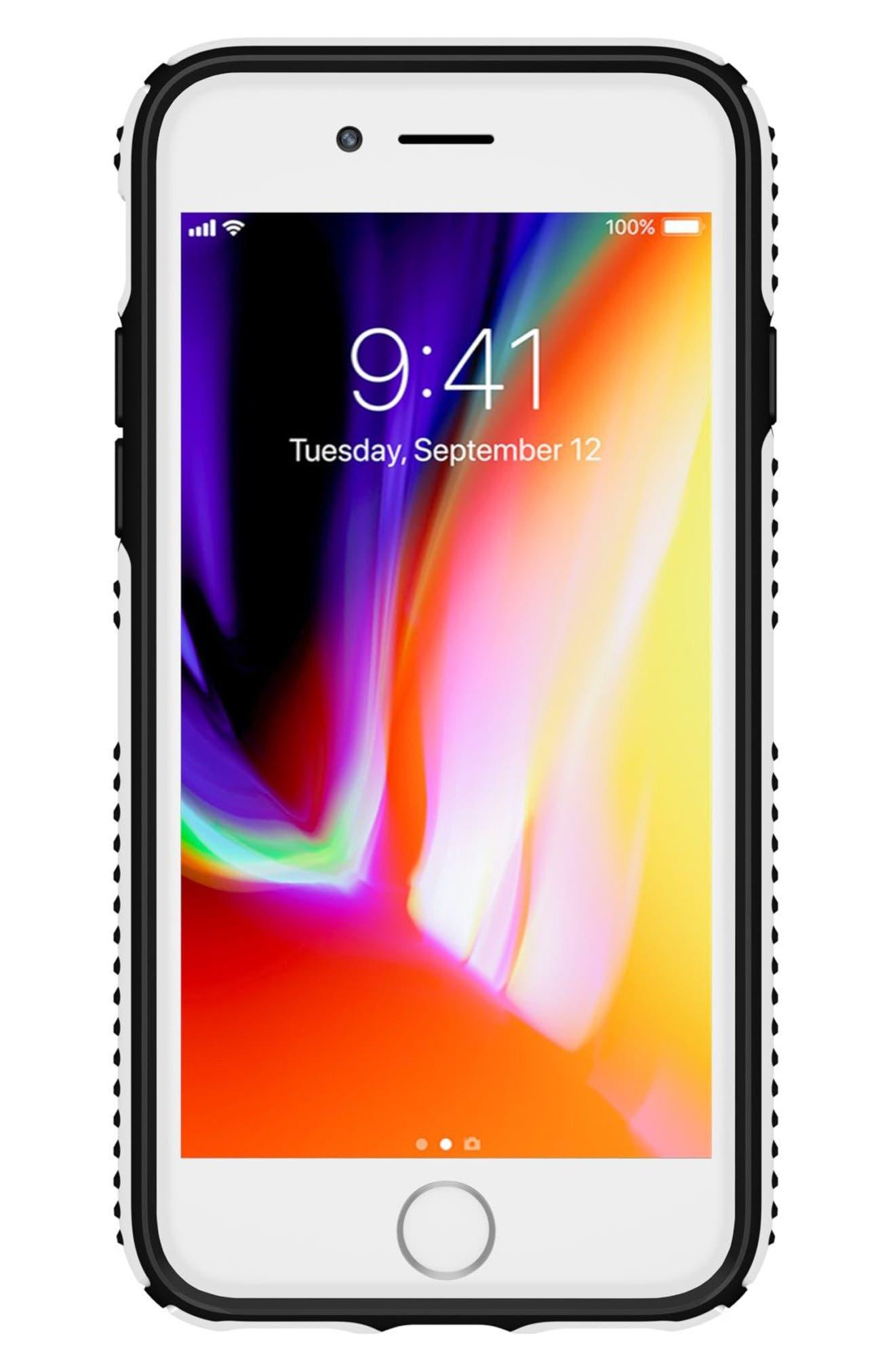 Grip iPhone 6/6s/7/8 Case,                             Alternate thumbnail 5, color,                             White/ Black