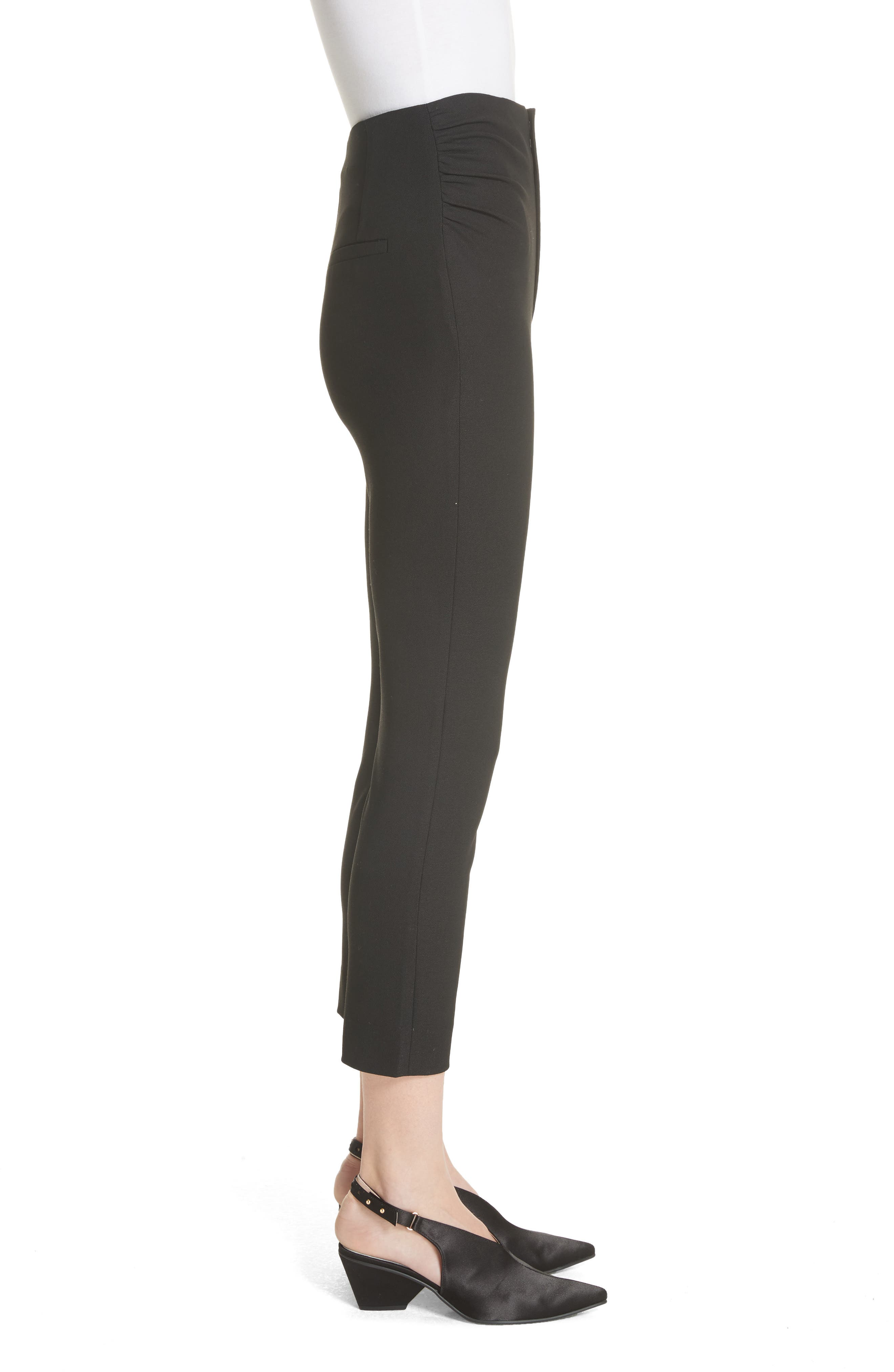 Le Corsaire Slim Crop Pants,                             Alternate thumbnail 3, color,                             Black