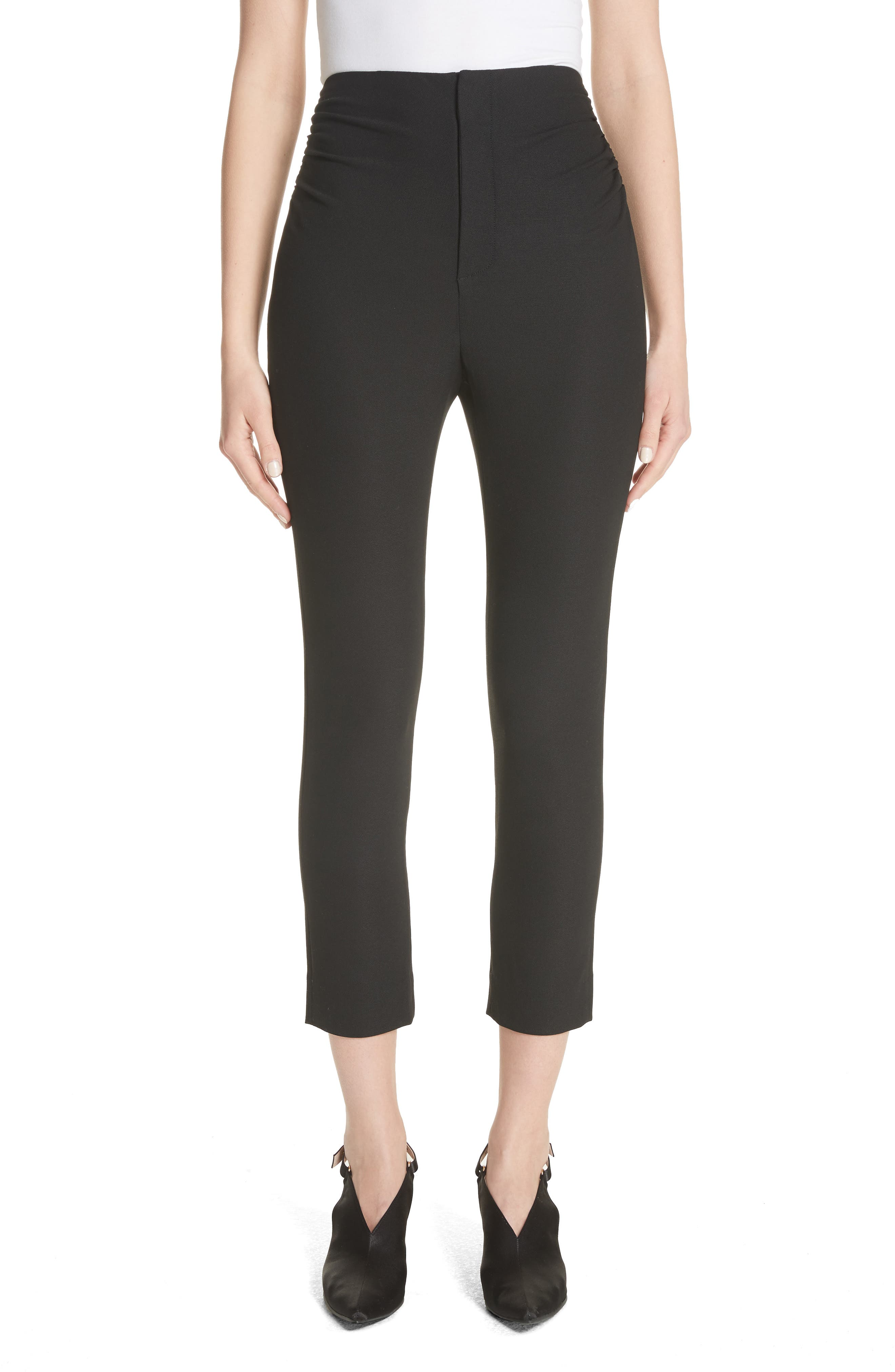 Le Corsaire Slim Crop Pants,                         Main,                         color, Black