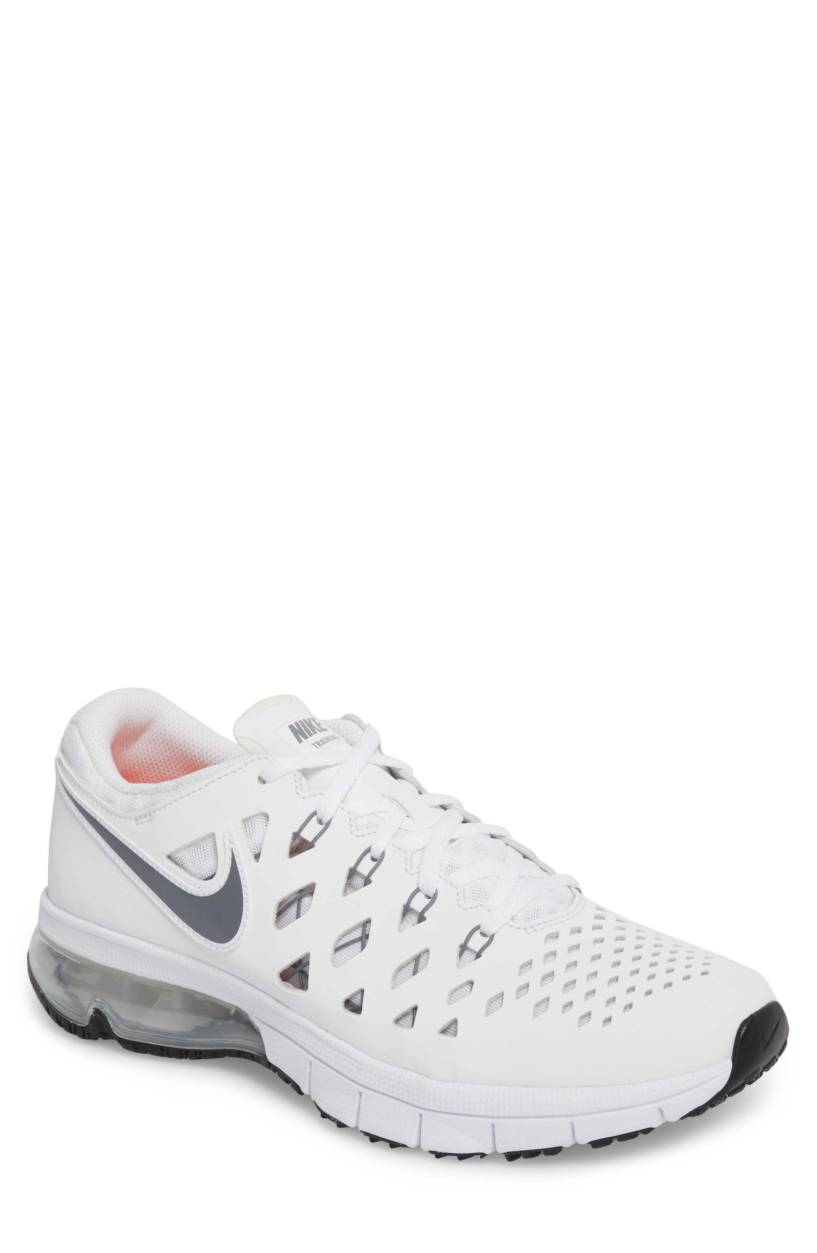 Air Trainer 180 Training Shoe,                         Main,                         color, White/ Cool Grey-Black