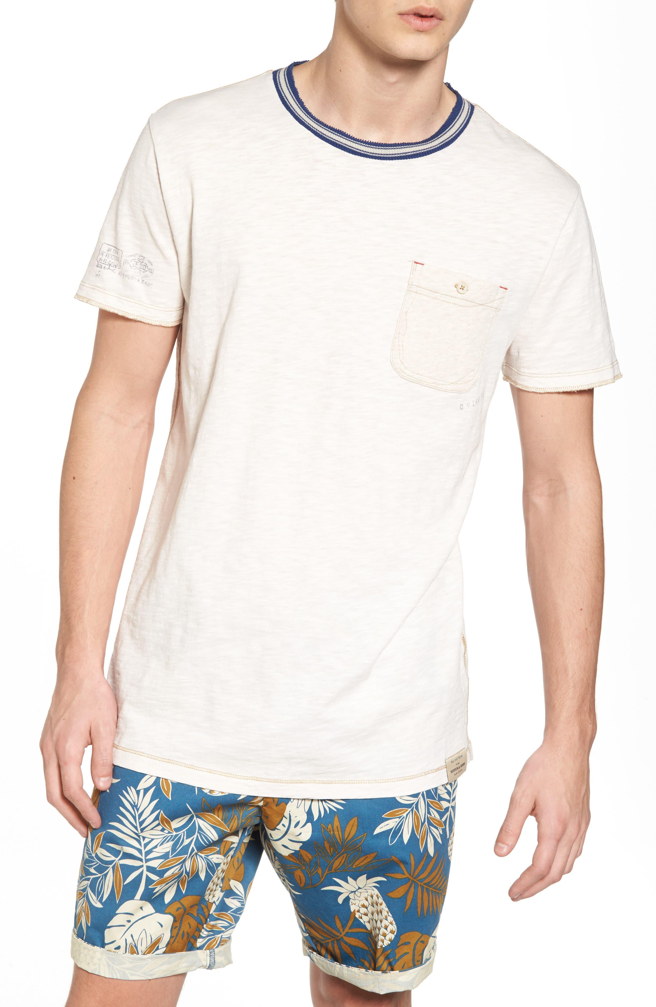 Contrast T-Shirt,                         Main,                         color, Combo A