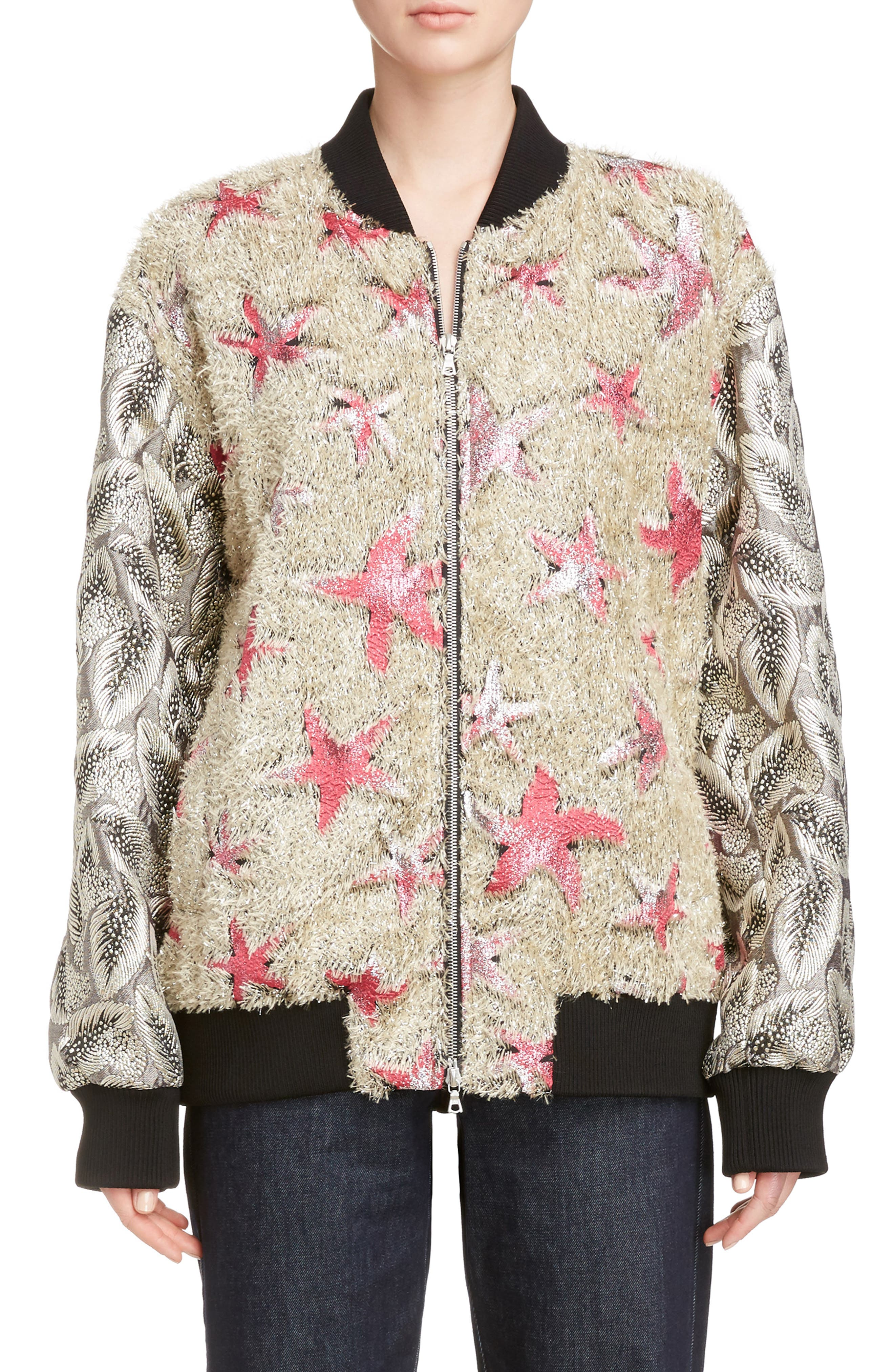 Main Image - Dries Van Noten Starfish Shaggy Bomber