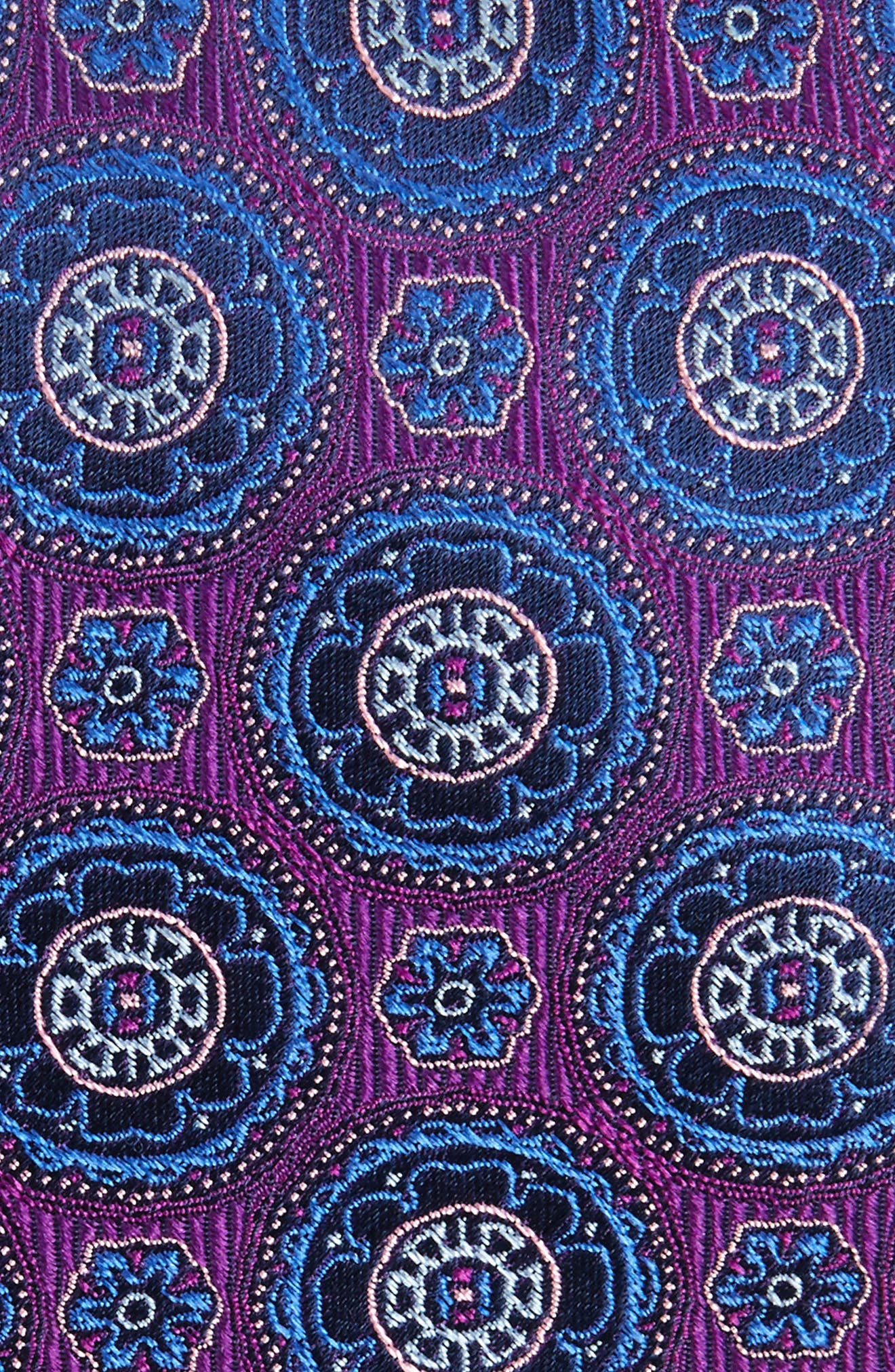Kensington Medallion Silk Tie,                             Alternate thumbnail 2, color,                             Purple