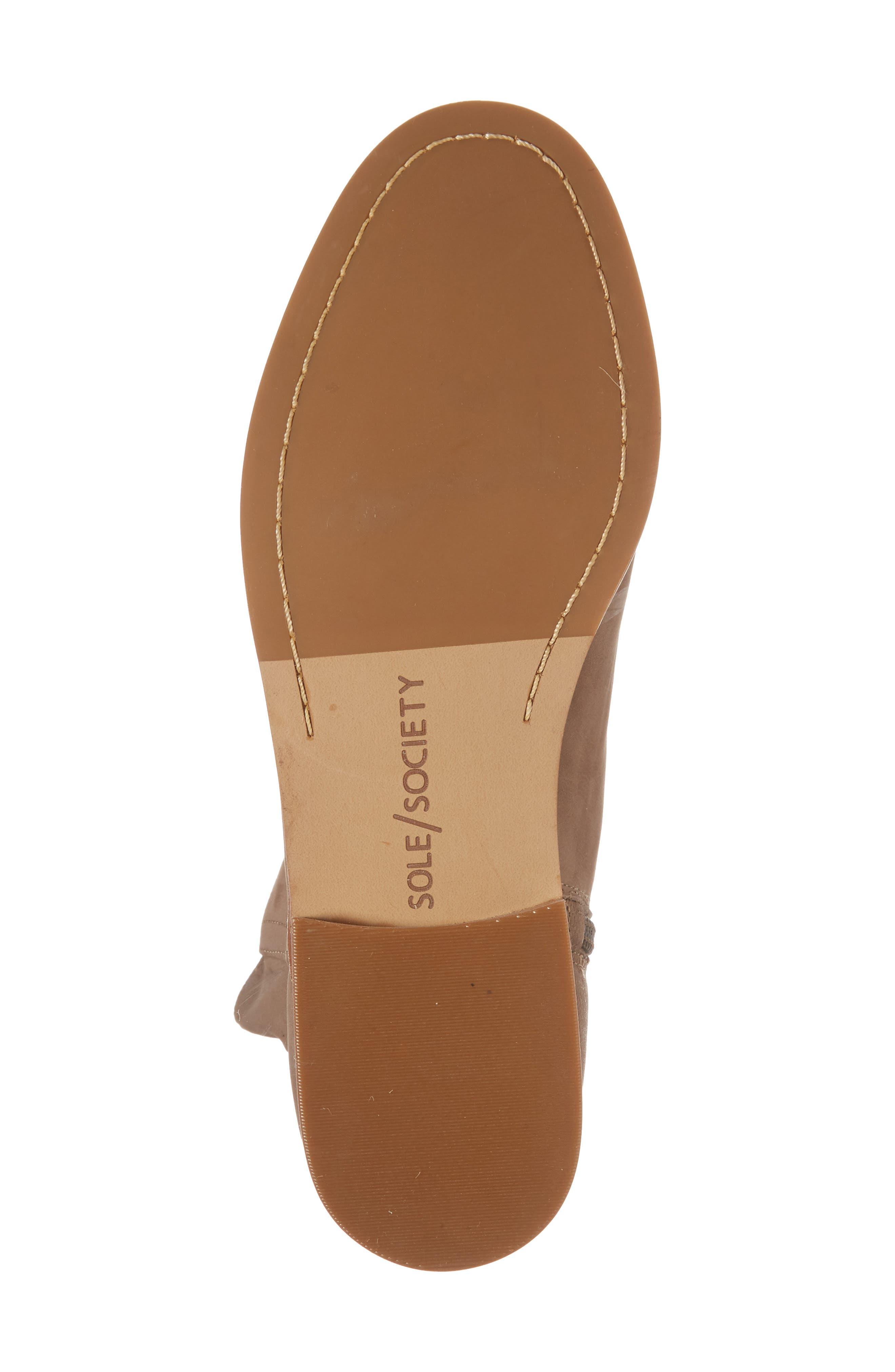 Barbora Gusseted Bootie,                             Alternate thumbnail 6, color,                             Taupe Suede
