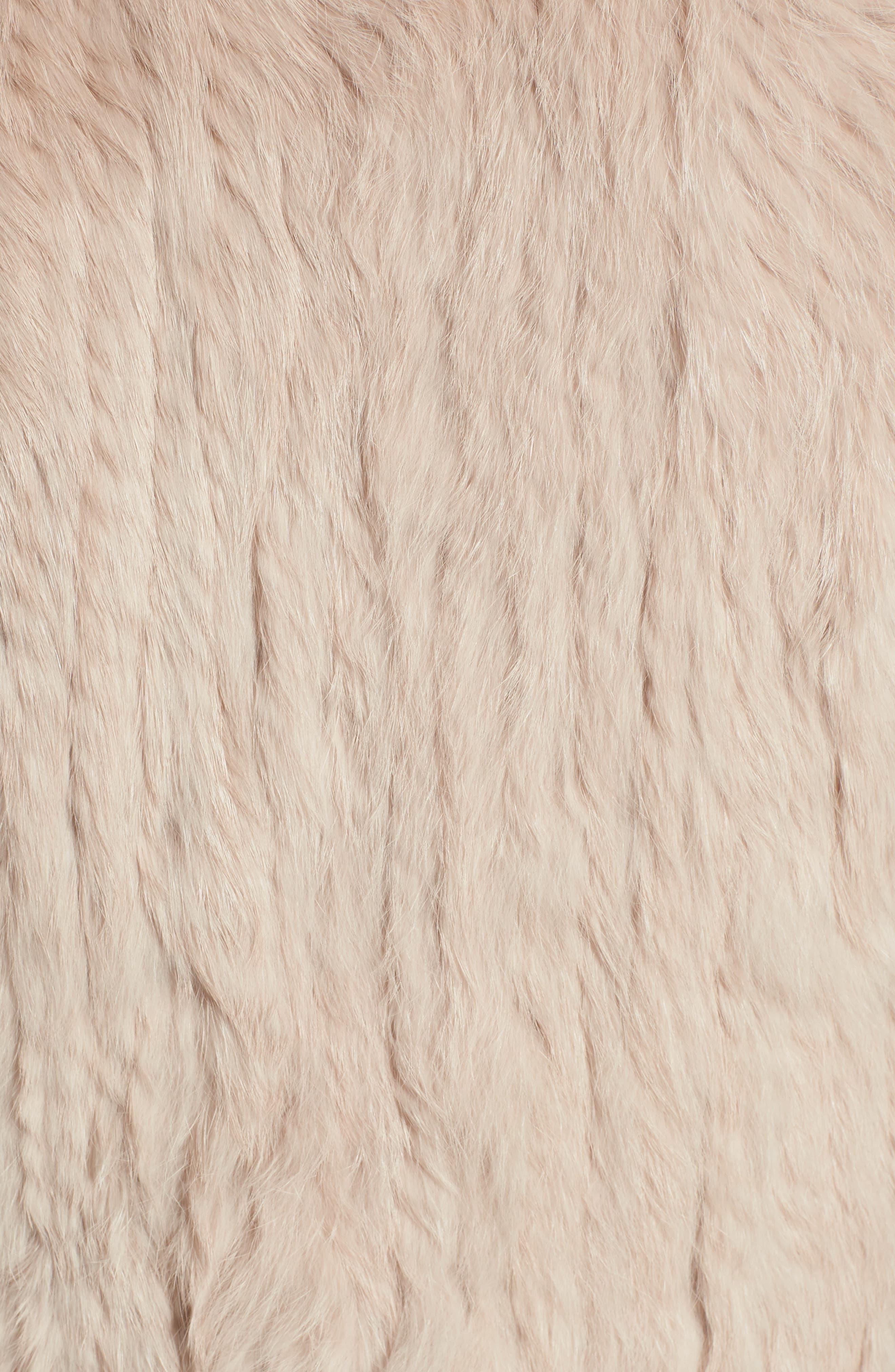 Alternate Image 5  - Love Token Genuine Rabbit Fur & Knit Vest (Nordstrom Exclusive)