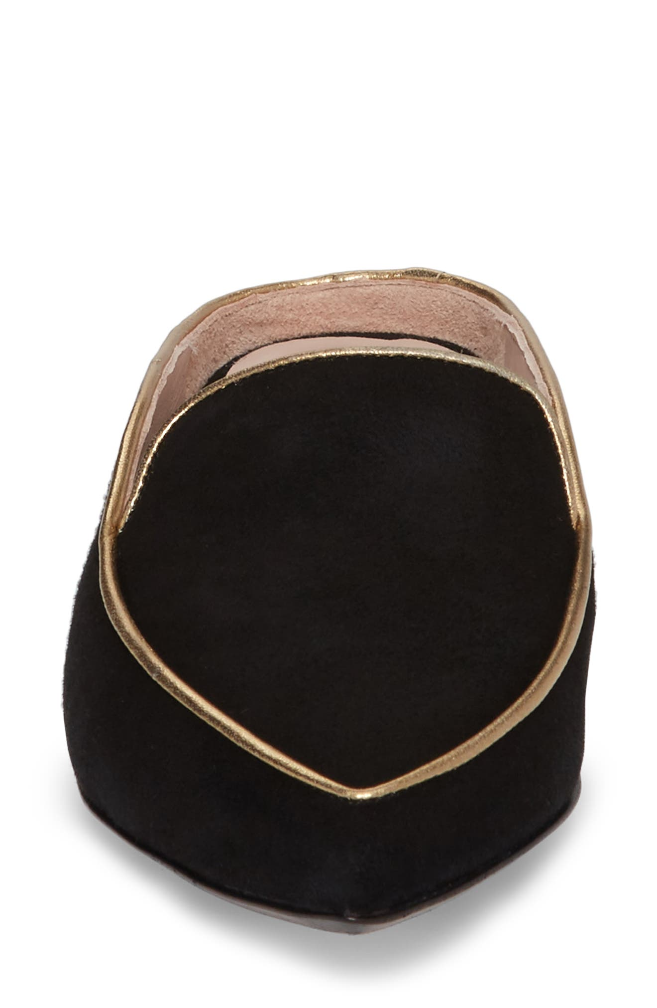 Taryn Rose Renatta Mule,                             Alternate thumbnail 4, color,                             Black/ Black Leather