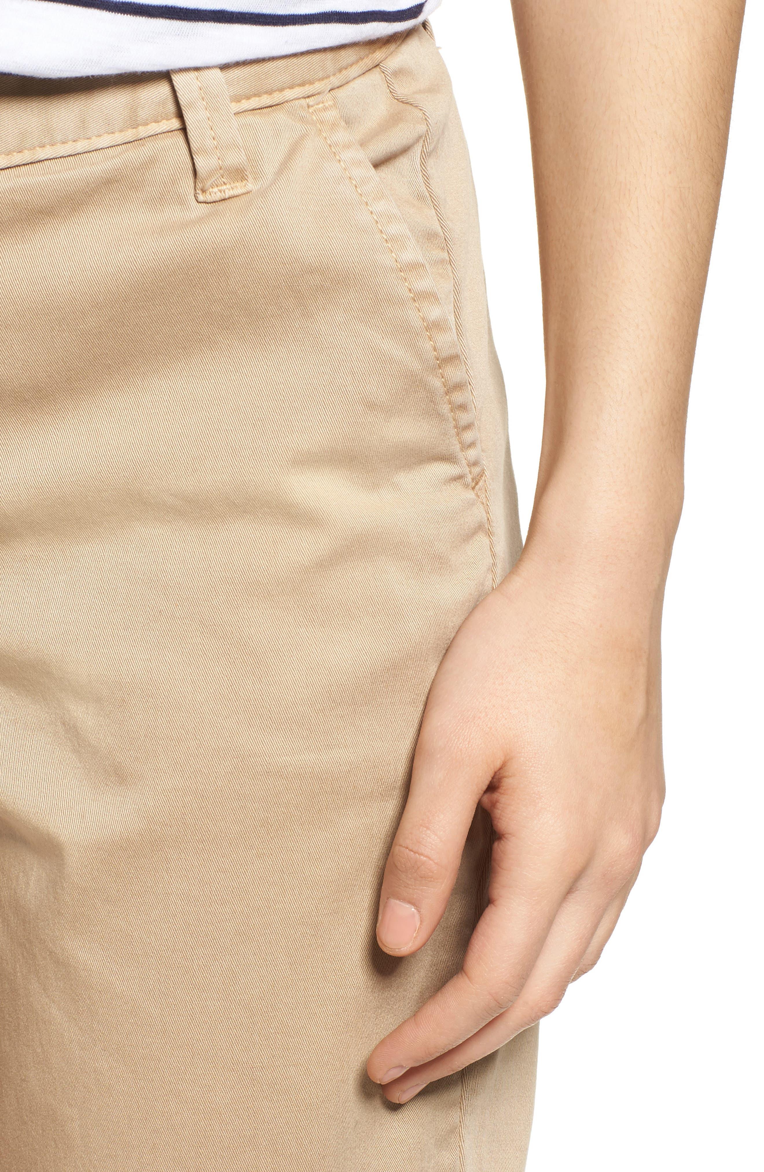 Twill Shorts,                             Alternate thumbnail 4, color,                             Tan Oxford