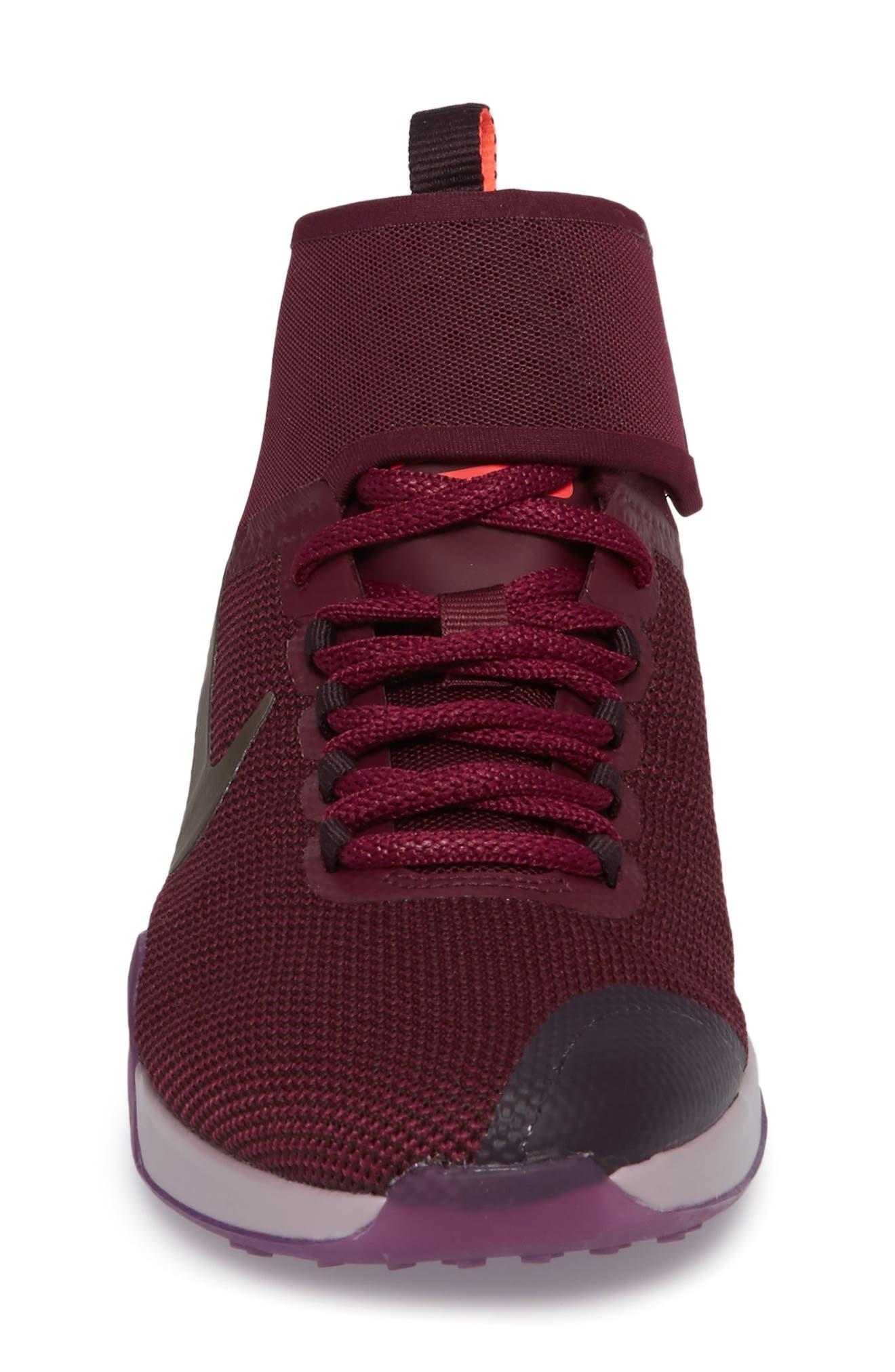 Air Zoom Strong 2 Gem Training Shoe,                             Alternate thumbnail 4, color,                             Bordeaux/ Metallic Pewter