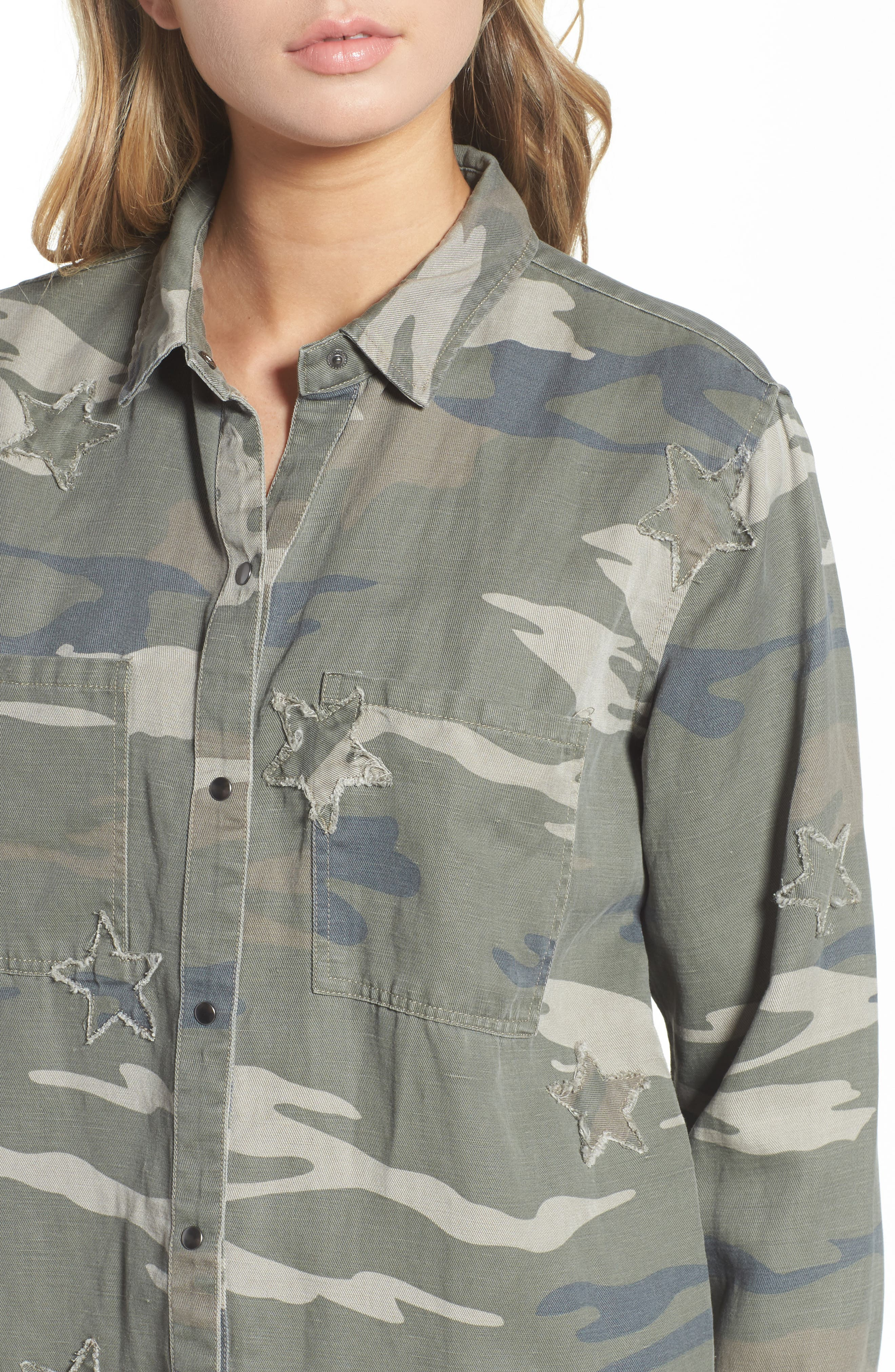 Marcel Shirt,                             Alternate thumbnail 4, color,                             Sage Camo With Stars