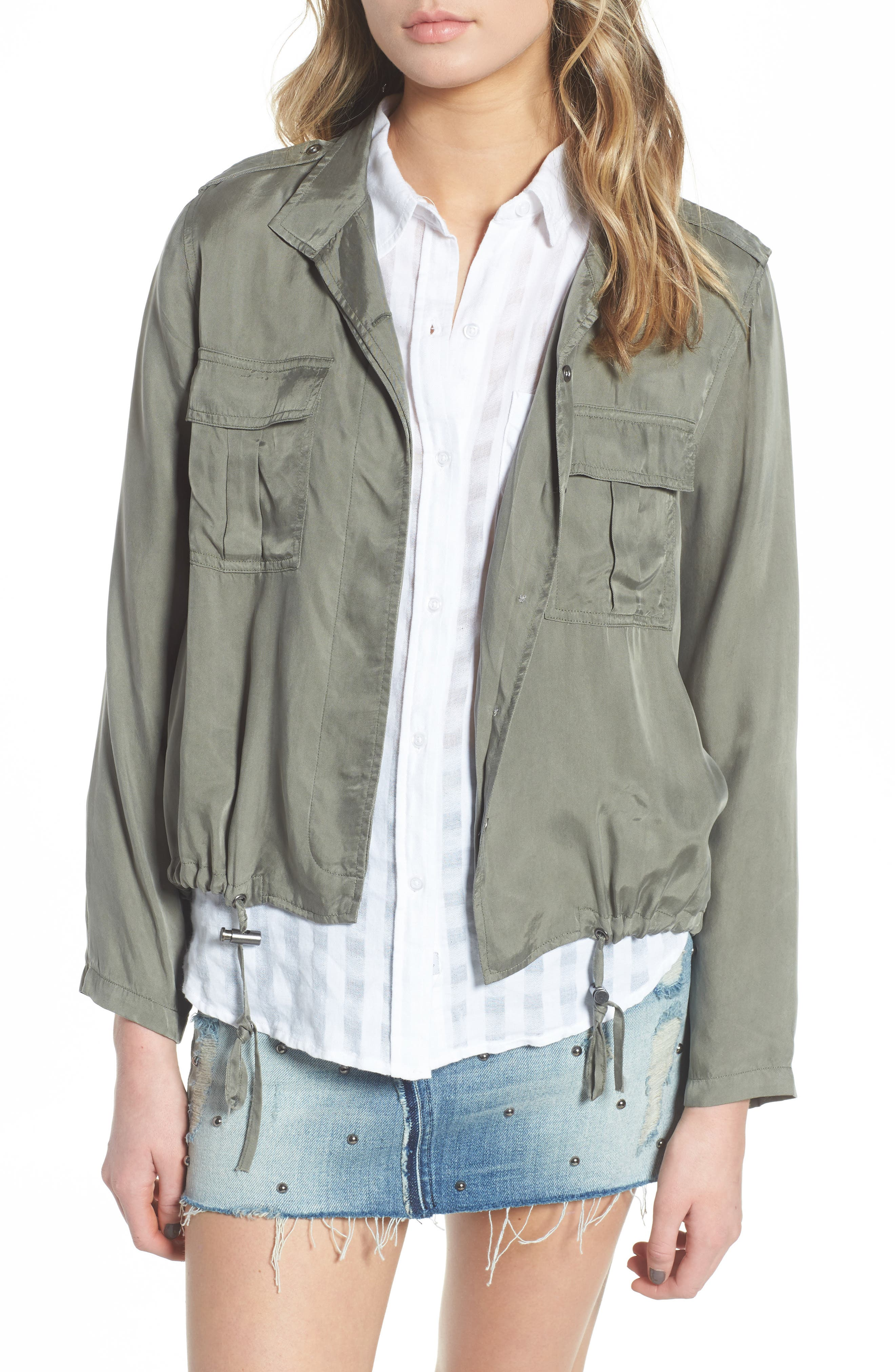 Collins Military Jacket,                             Main thumbnail 1, color,                             Sage