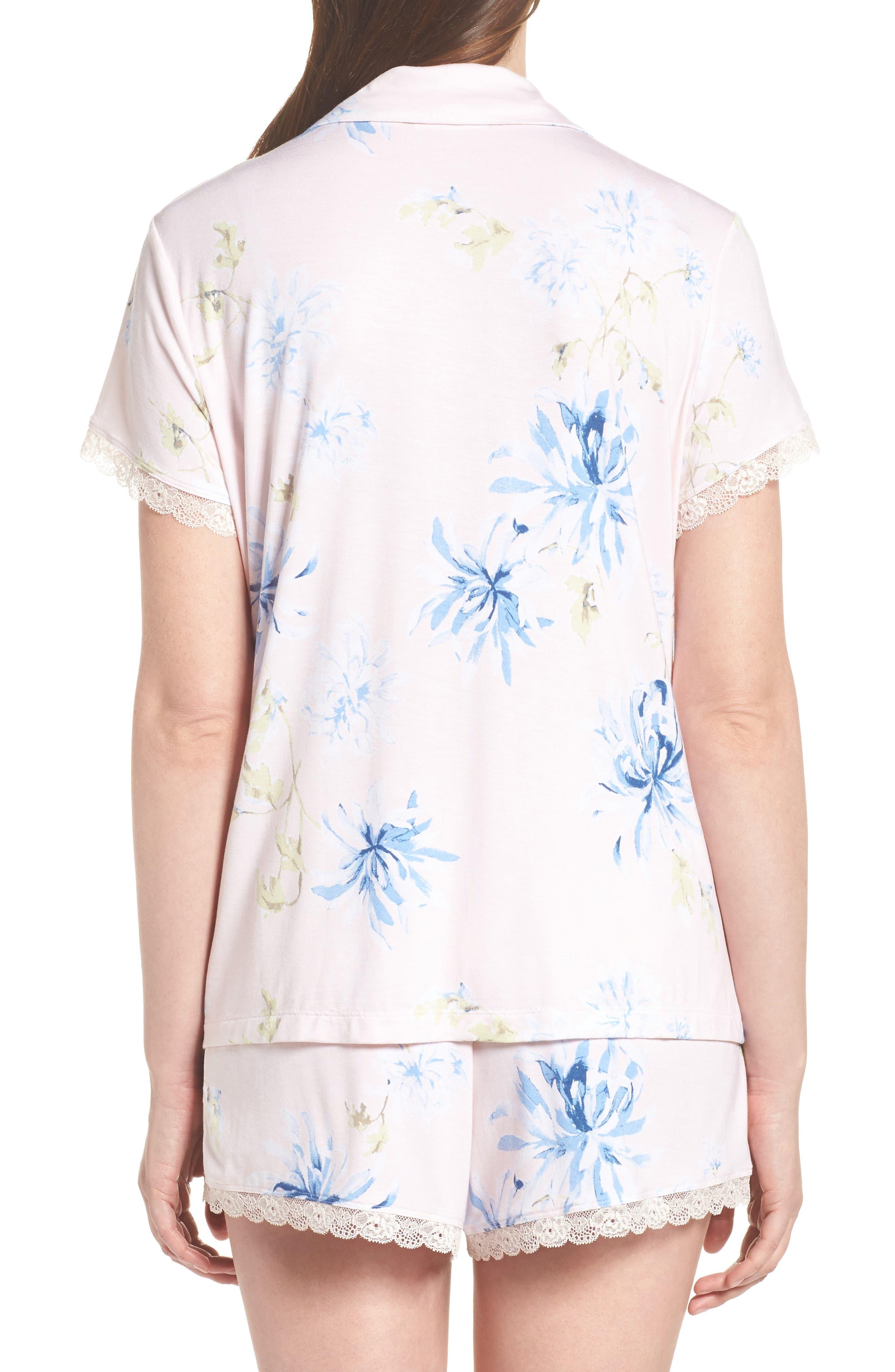 Moonlight Short Pajamas,                             Alternate thumbnail 2, color,                             Pink Frosty Spring Dream