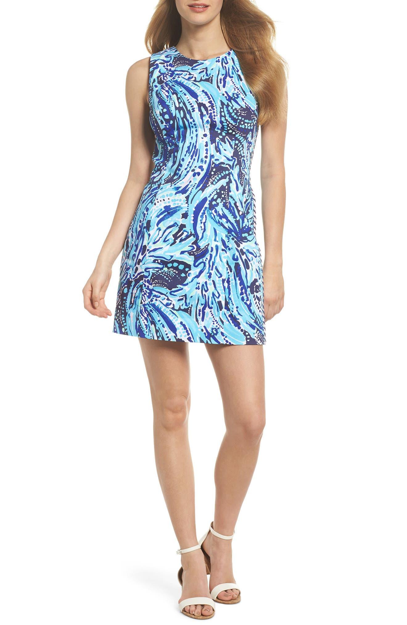Mila Sheath Dress,                         Main,                         color, Bright Navy Crash The Bash