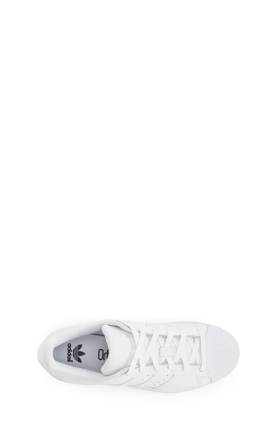 'Superstar 2' Sneaker,                             Alternate thumbnail 3, color,                             White/ White