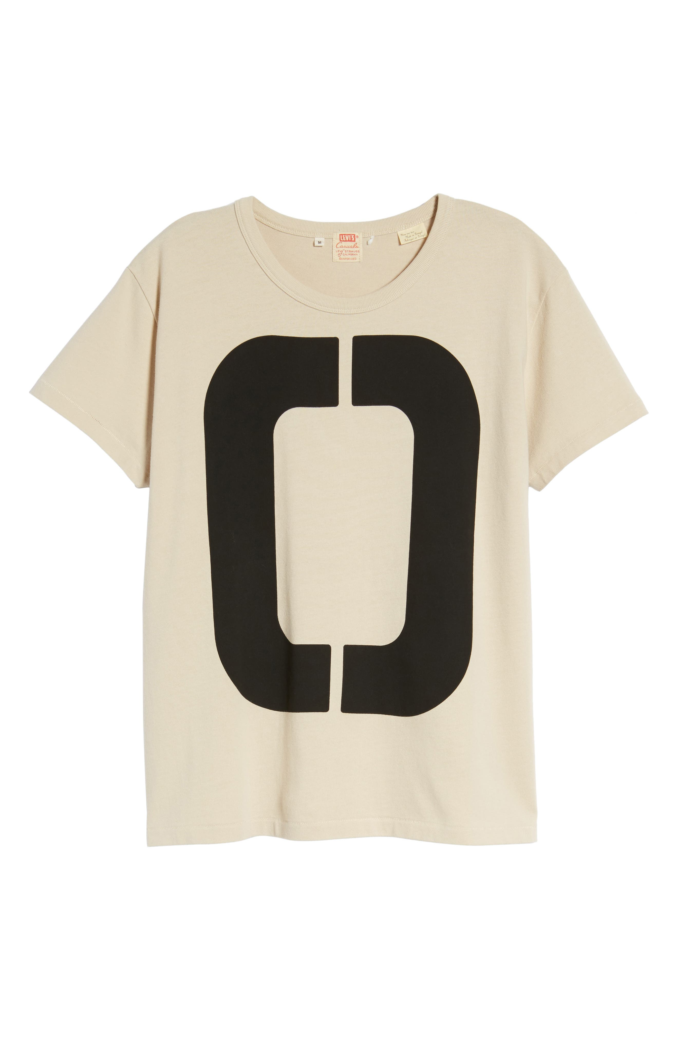 1960s Loose Graphic T-Shirt,                             Alternate thumbnail 6, color,                             Zero Sand Shell