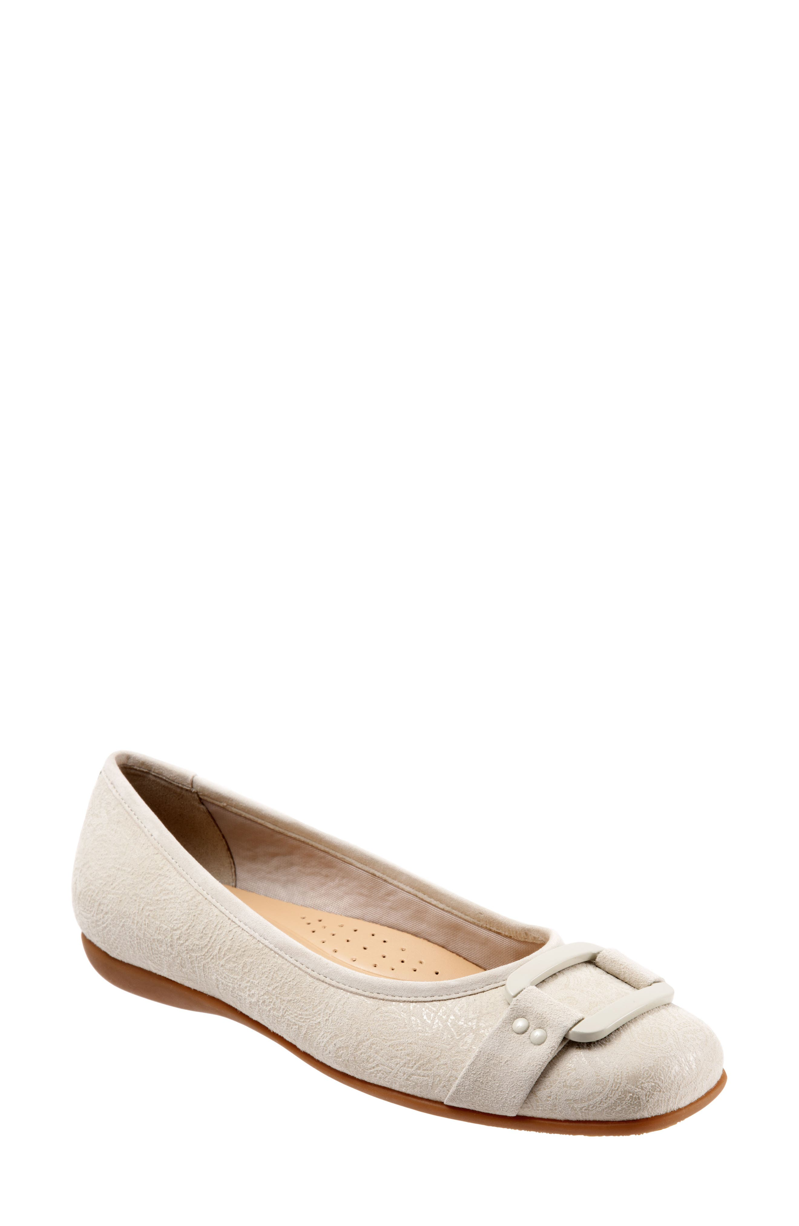 'Sizzle Signature' Flat,                             Main thumbnail 1, color,                             Off White Leather