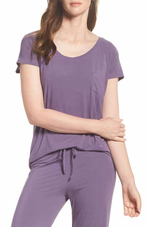 Nordstrom Lingerie Breathe Stretch Modal Tee