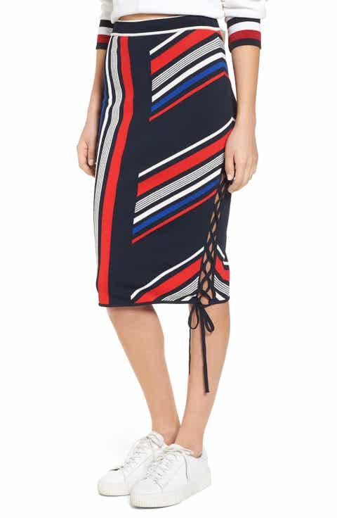 TOMMY JEANS x Gigi Hadid Intarsia Skirt