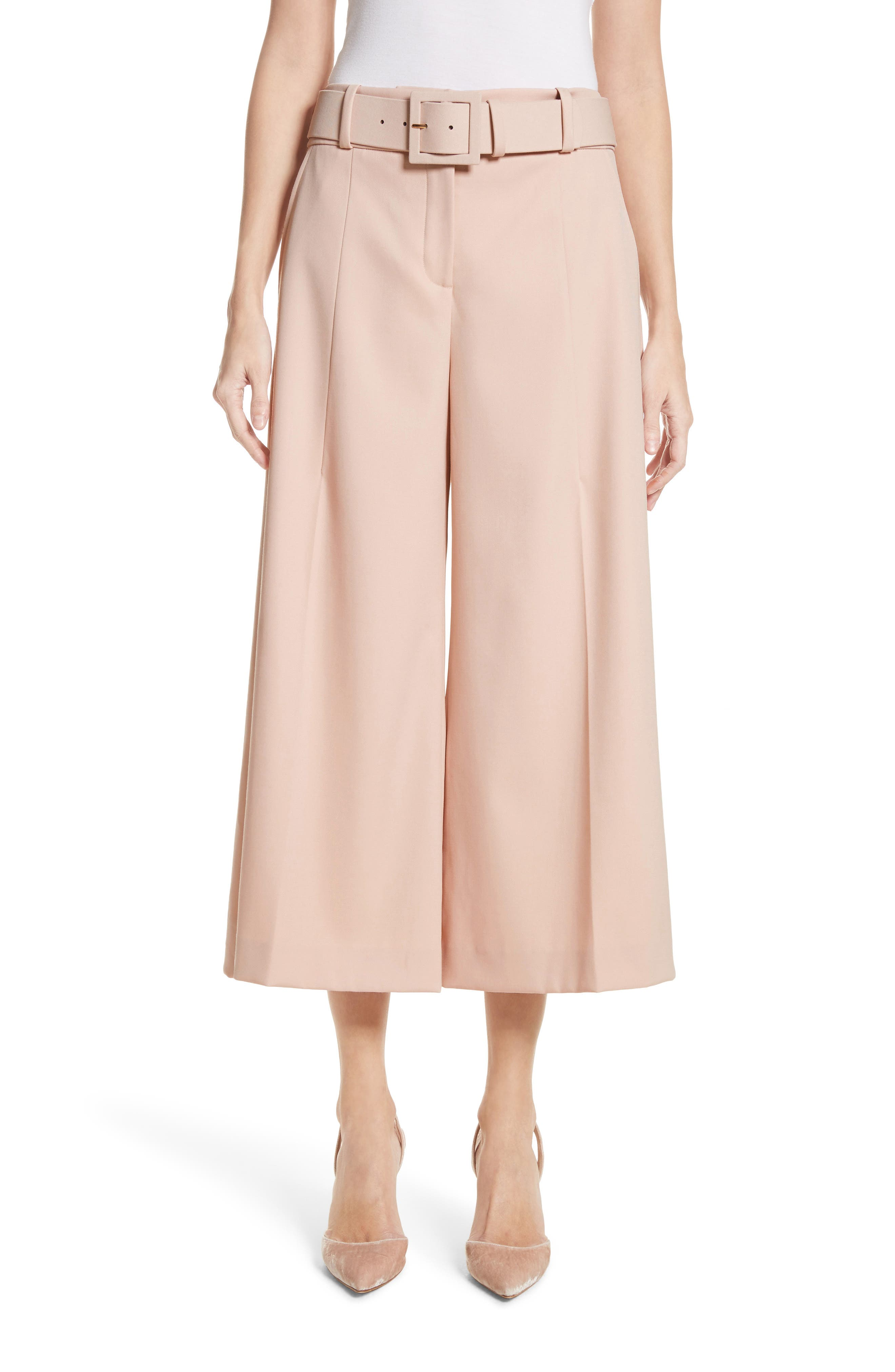 Main Image - Oscar de la Renta Stretch Wool Gabardine Culottes