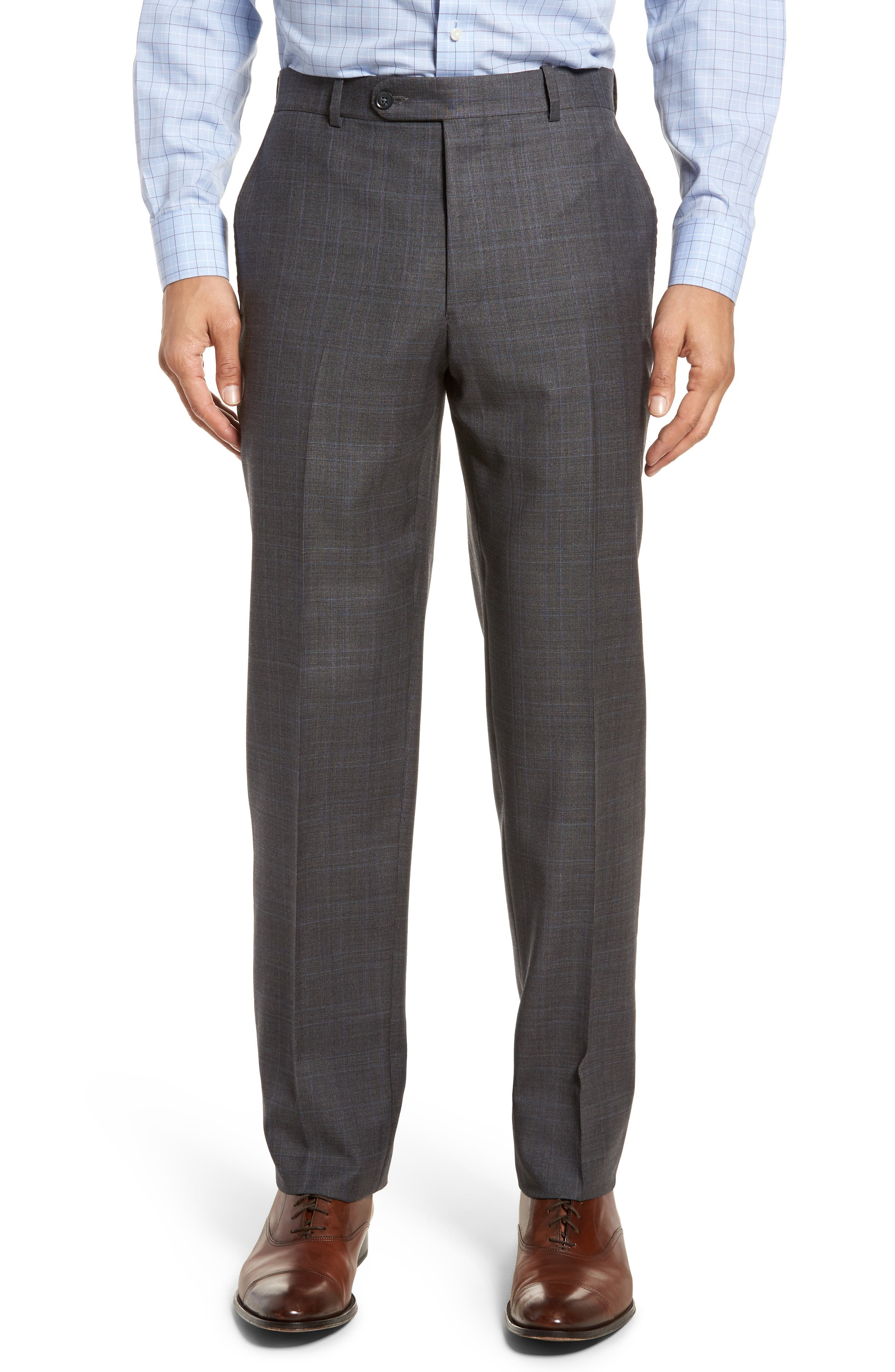 Classic Fit Windowpane Wool Suit,                             Alternate thumbnail 6, color,                             Grey
