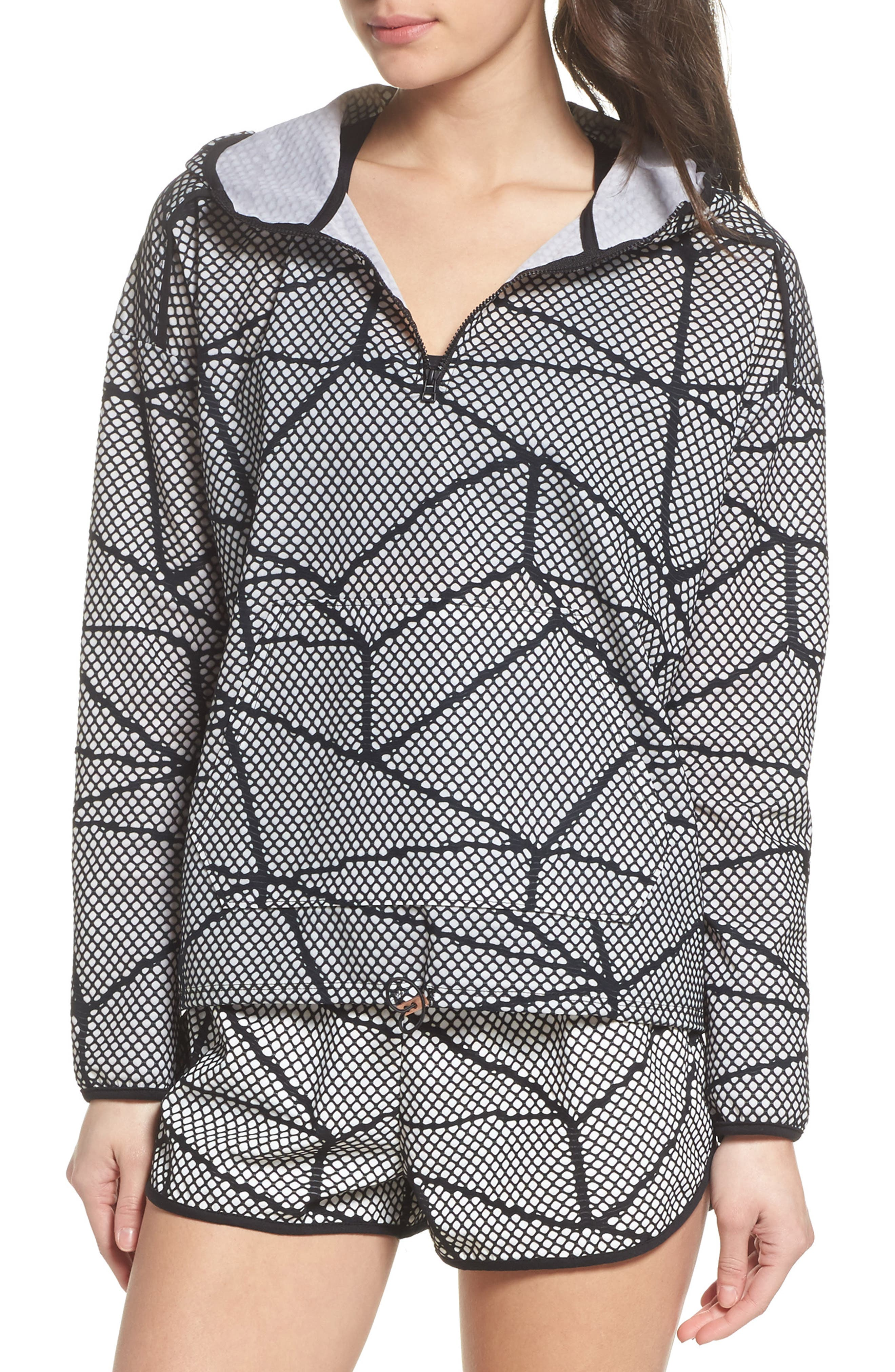 Chromatic Hoodie Pullover,                         Main,                         color, Black-White Chromatic