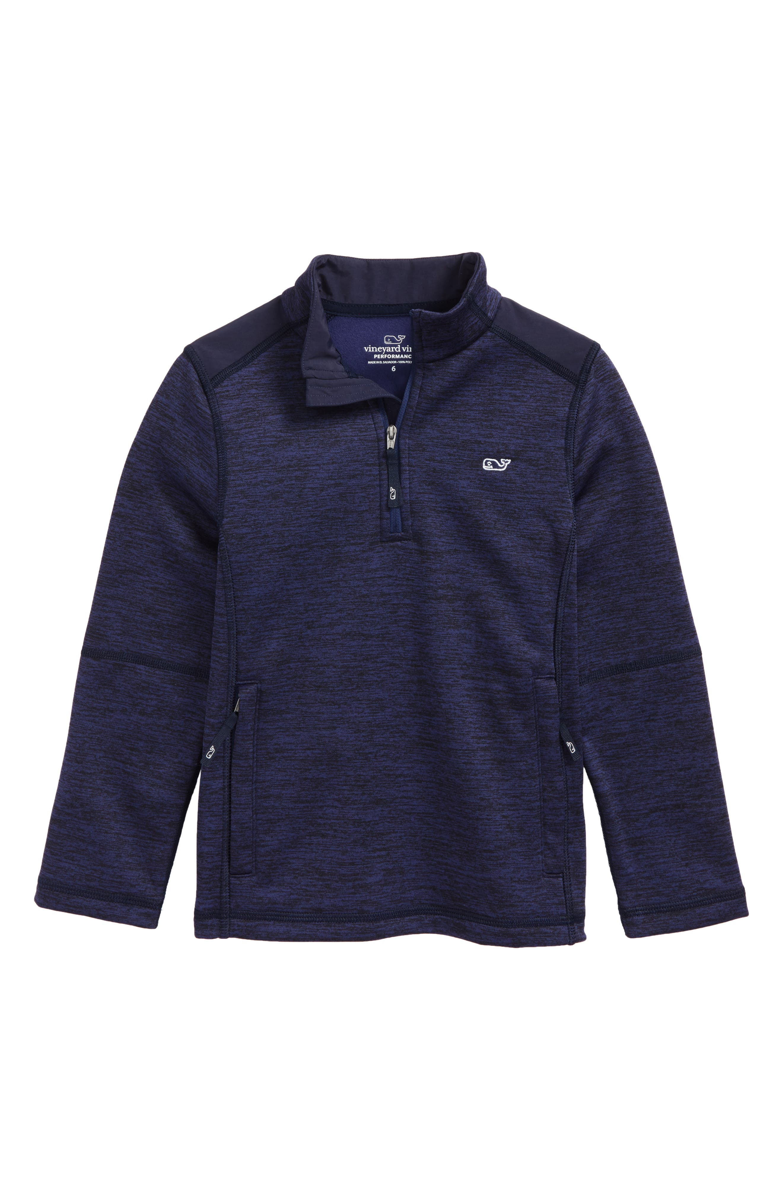 Performance Quarter Zip Pullover,                         Main,                         color, Night Bay