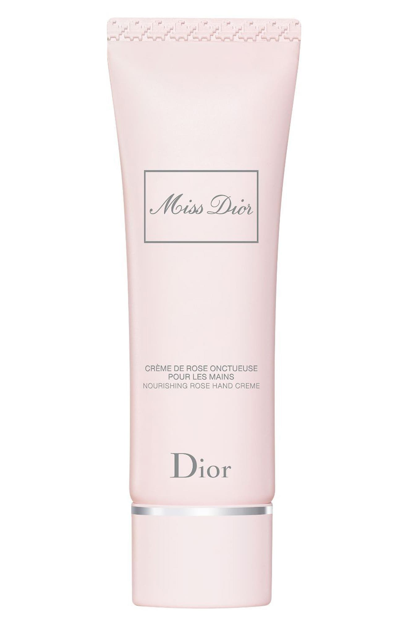 Miss Dior Nourishing Rose Hand Cream,                             Main thumbnail 1, color,                             No Color