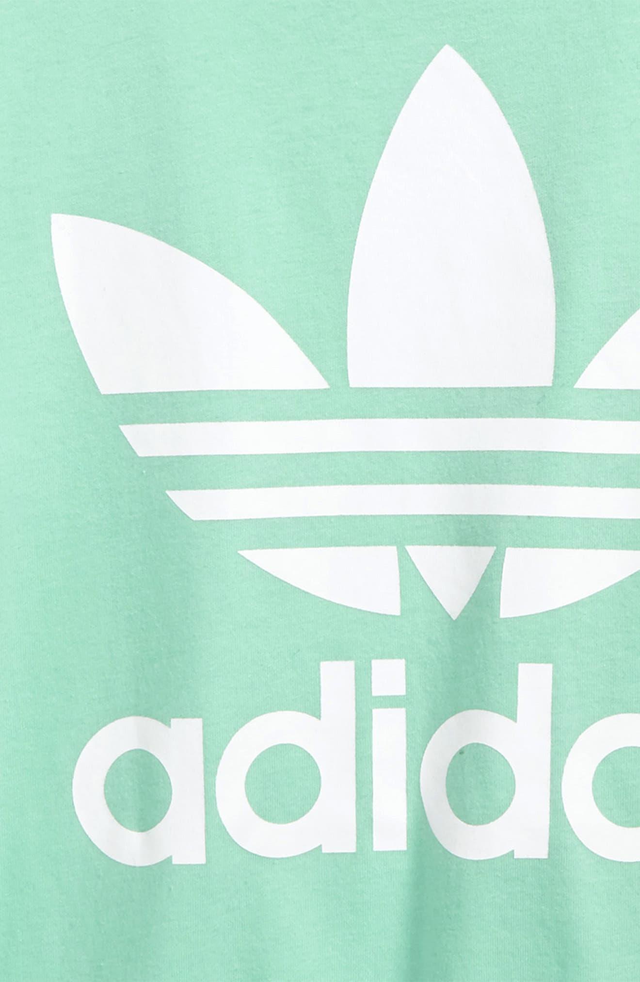 adidas Trefoil Logo Tee,                             Alternate thumbnail 2, color,                             Green