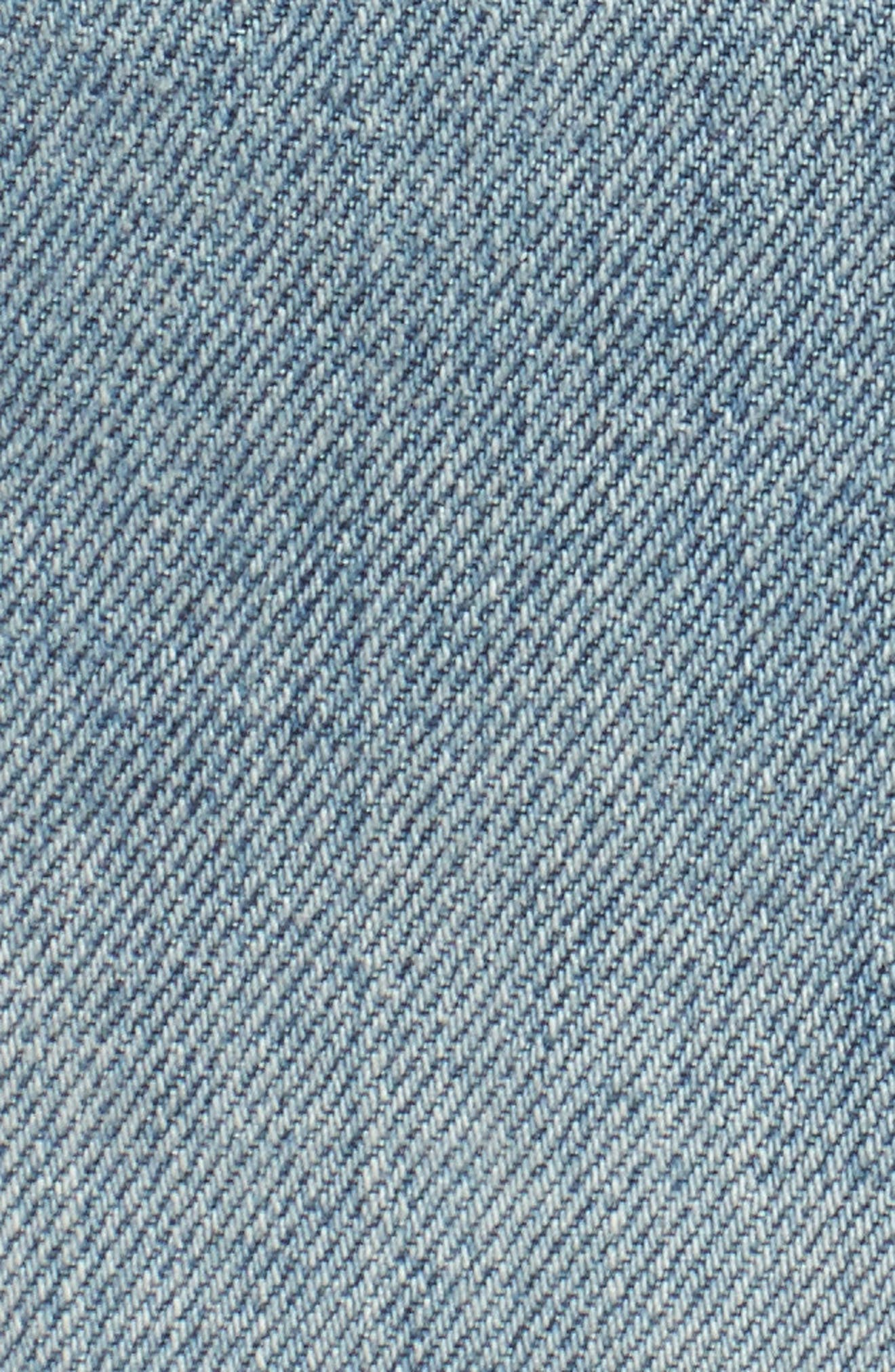 Wynonna Studded Cutoff Denim Miniskirt,                             Alternate thumbnail 5, color,                             Med Vintage All Over Studded